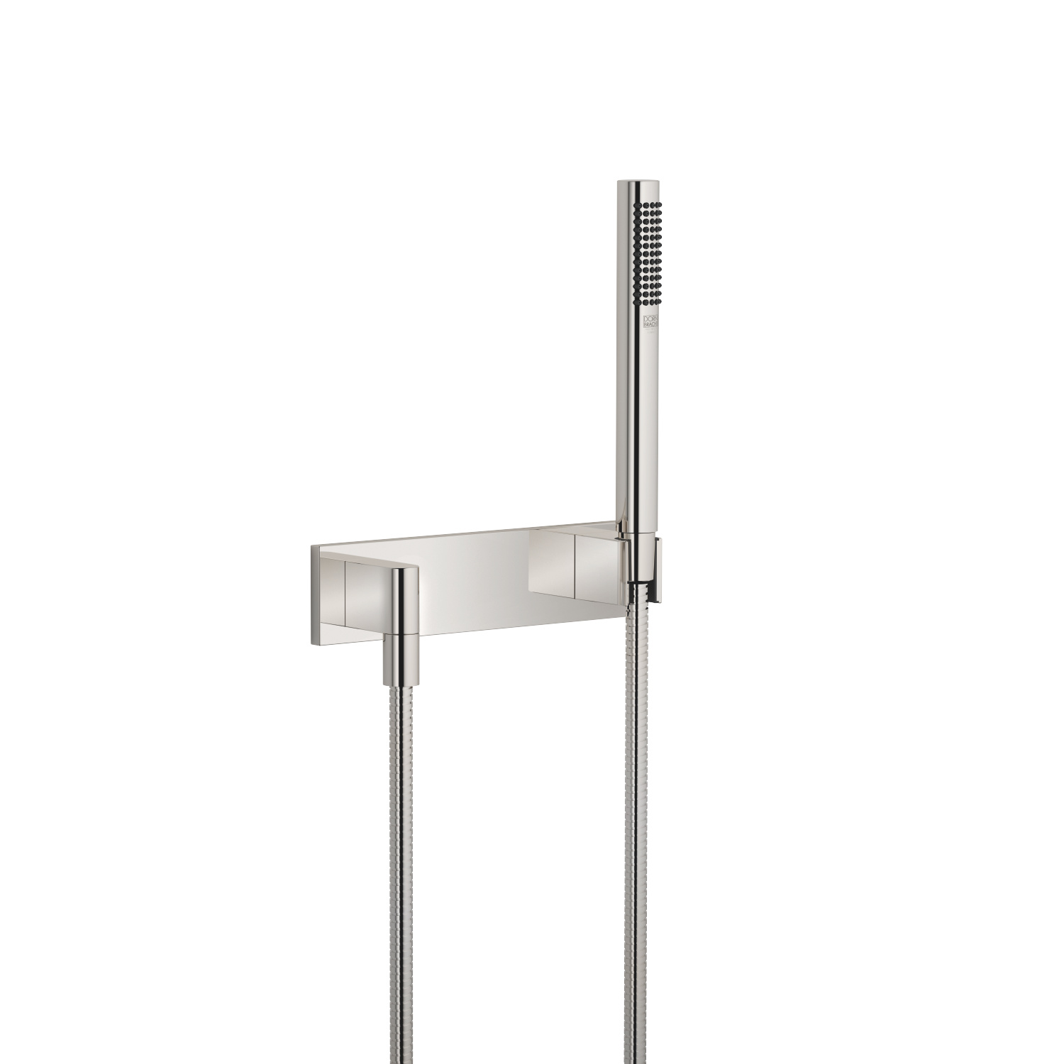 Hand shower set with cover plate - platinum