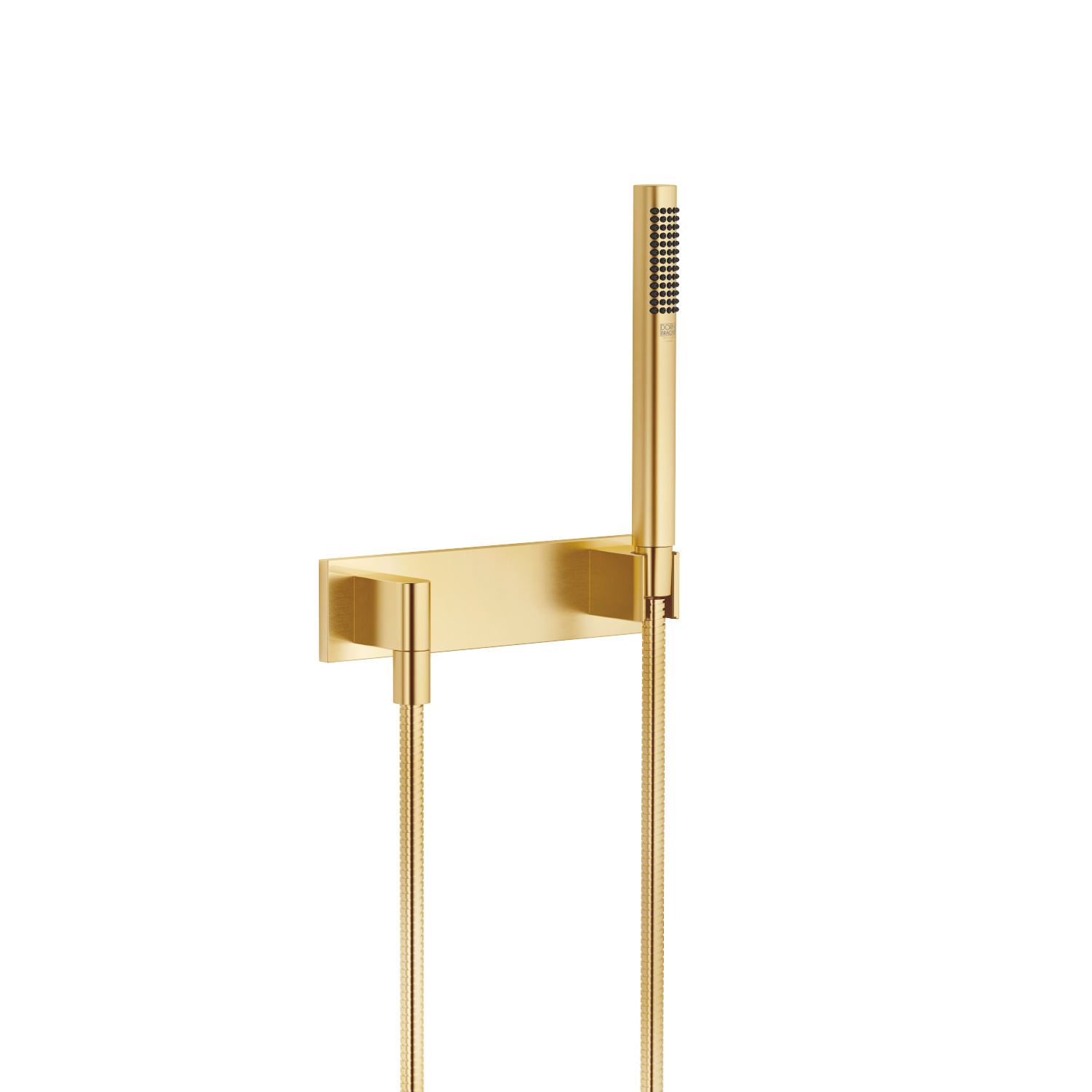 Hand shower set with cover plate - Brushed Durabrass
