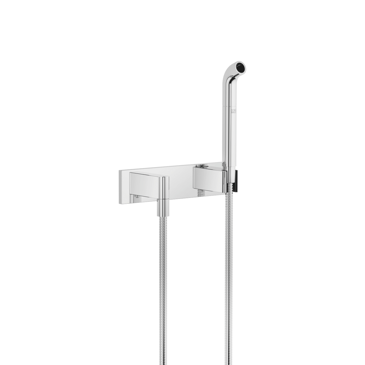 Affusion pipe with cover plate - polished chrome