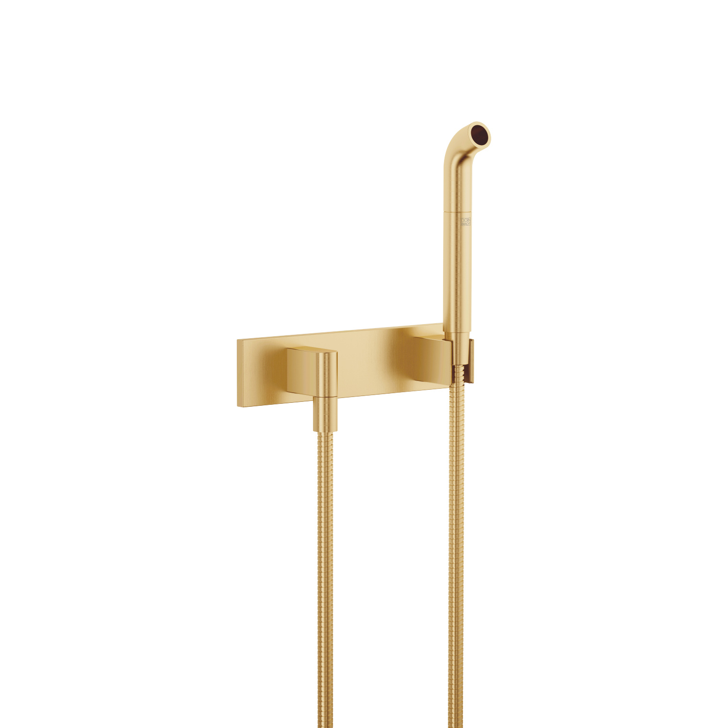 Affusion pipe with cover plate - Brushed Durabrass