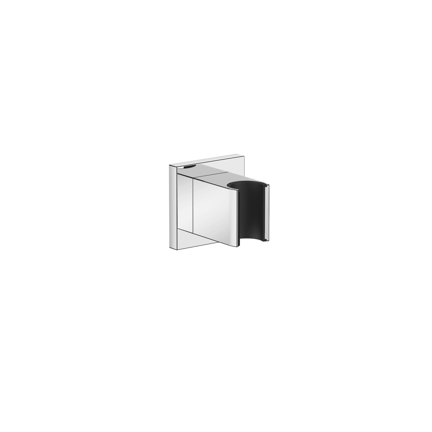 Wall bracket - polished chrome