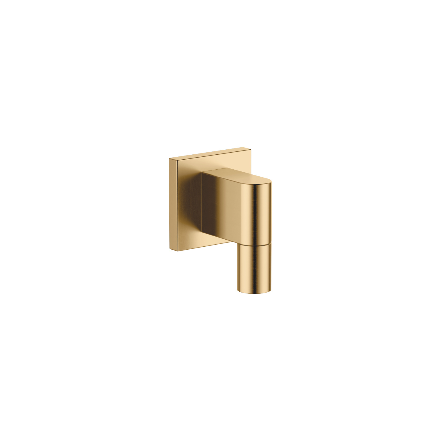 Wall elbow - brushed Durabrass