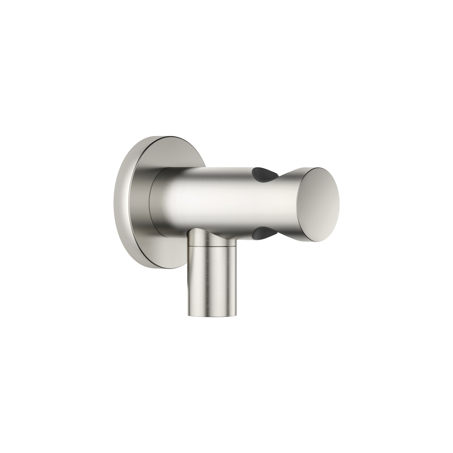 Wall elbow with integrated shower holder - platinum matt