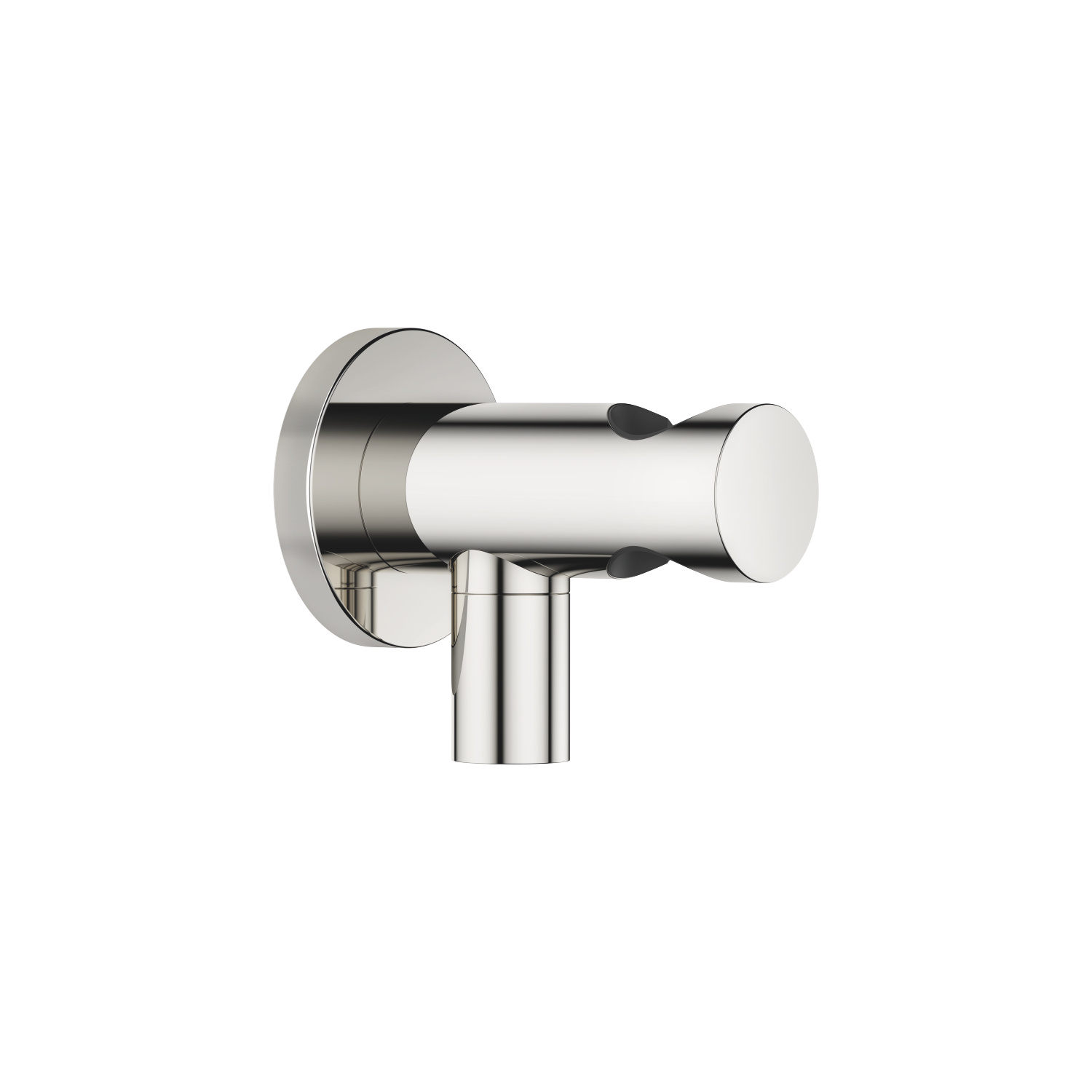 Wall elbow with integrated shower holder - platinum