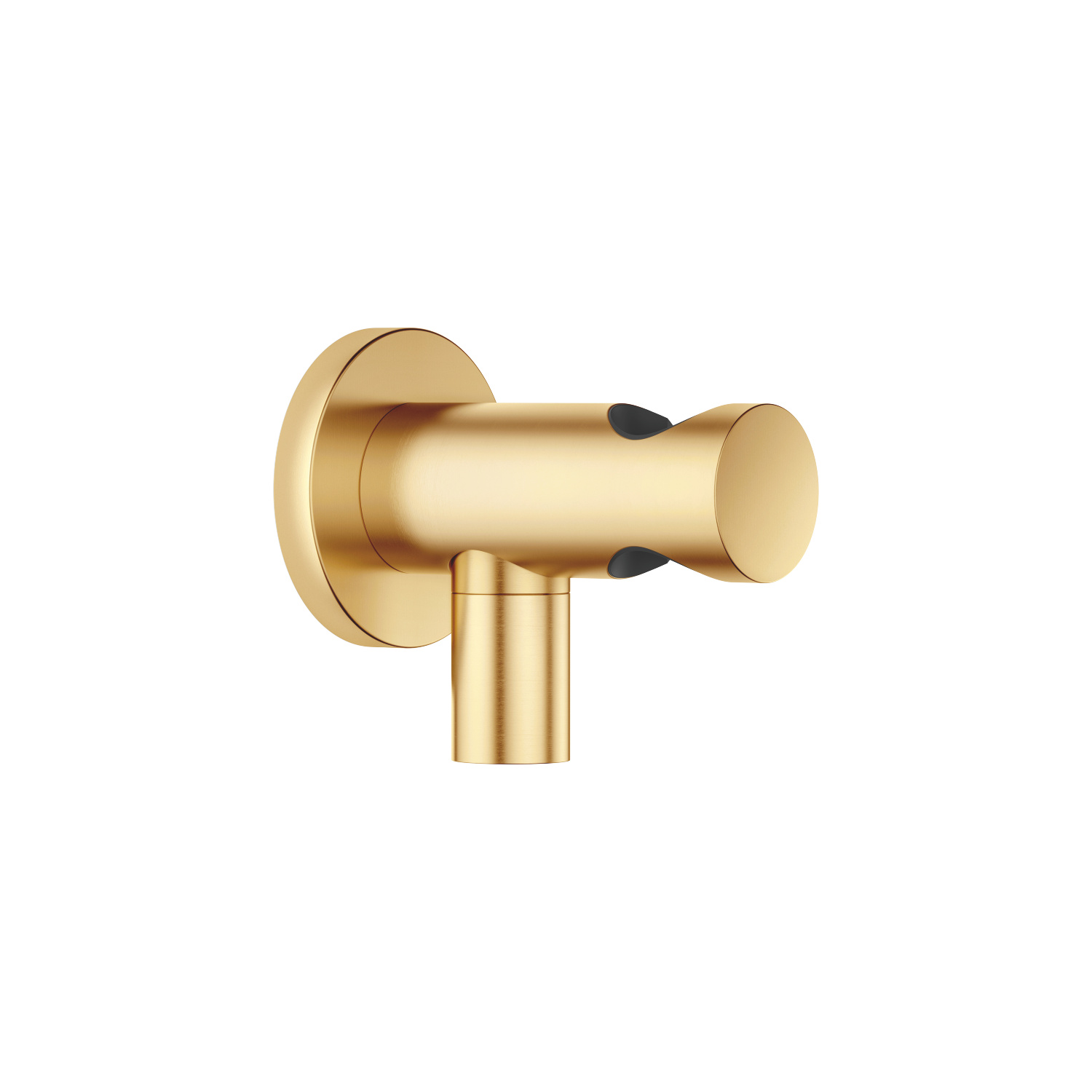 Wall elbow with integrated shower holder - brushed Durabrass
