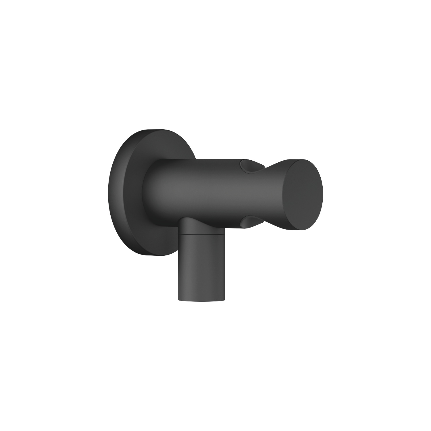 Wall elbow with integrated shower holder - matt black