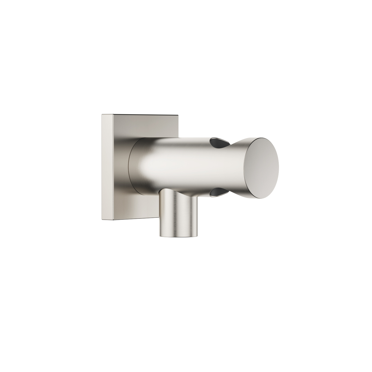 Wall elbow with integrated wall bracket - platinum matte