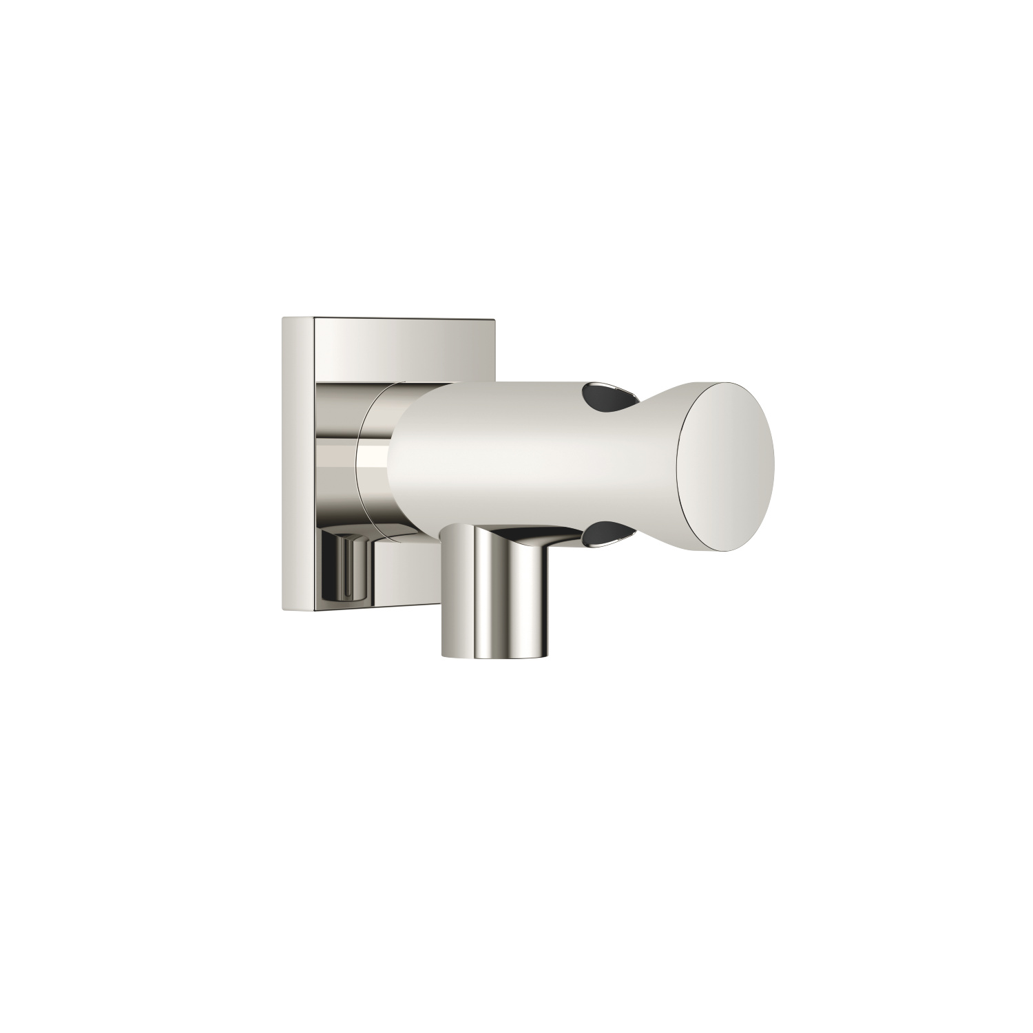 Wall elbow with integrated wall bracket - platinum