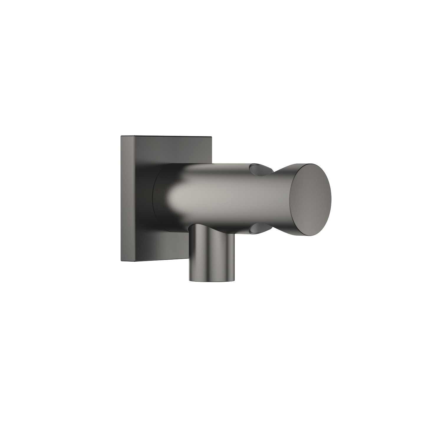 Wall elbow with integrated shower holder - Dark Platinum matt