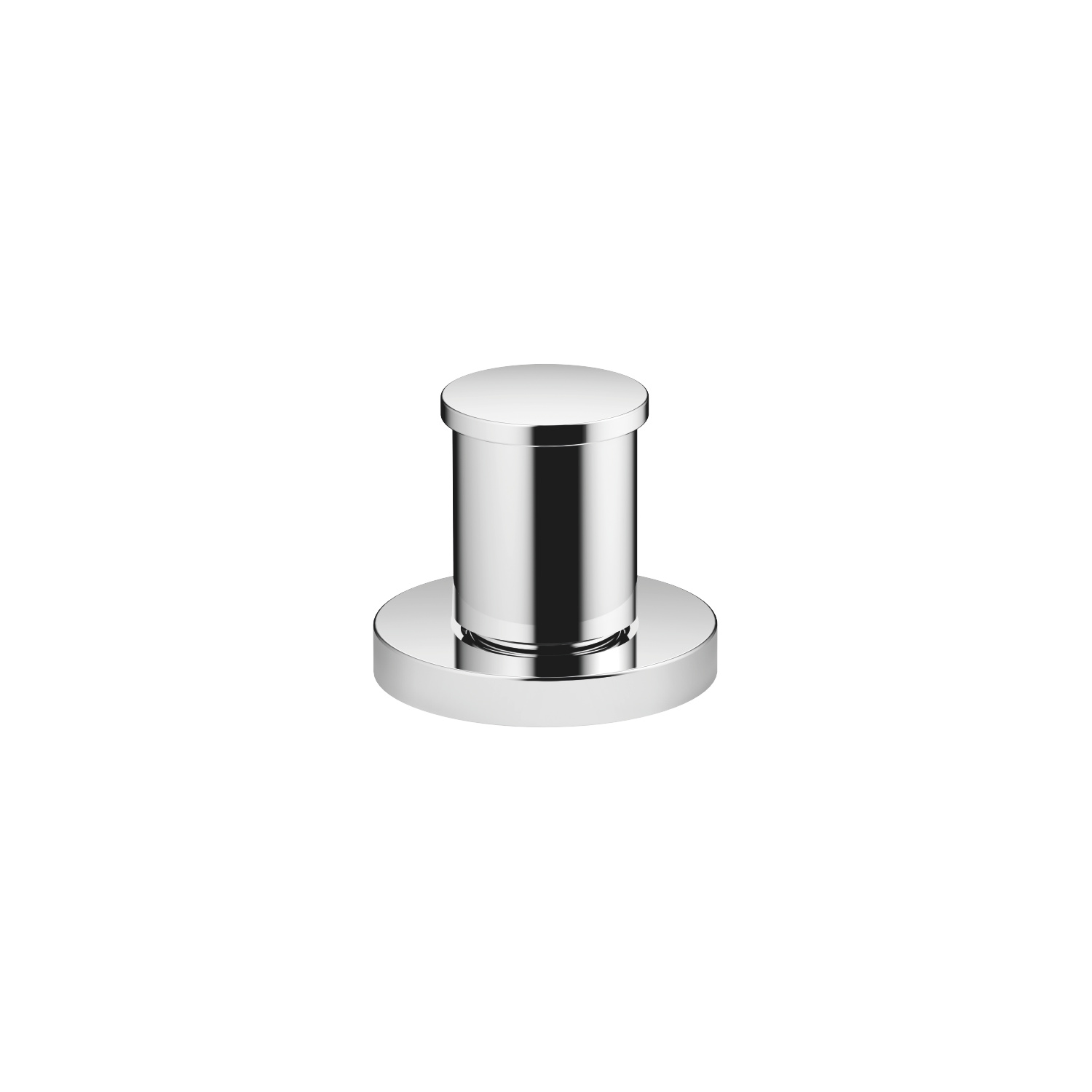 Two-way diverter for bath rim or tile edge installation - polished chrome