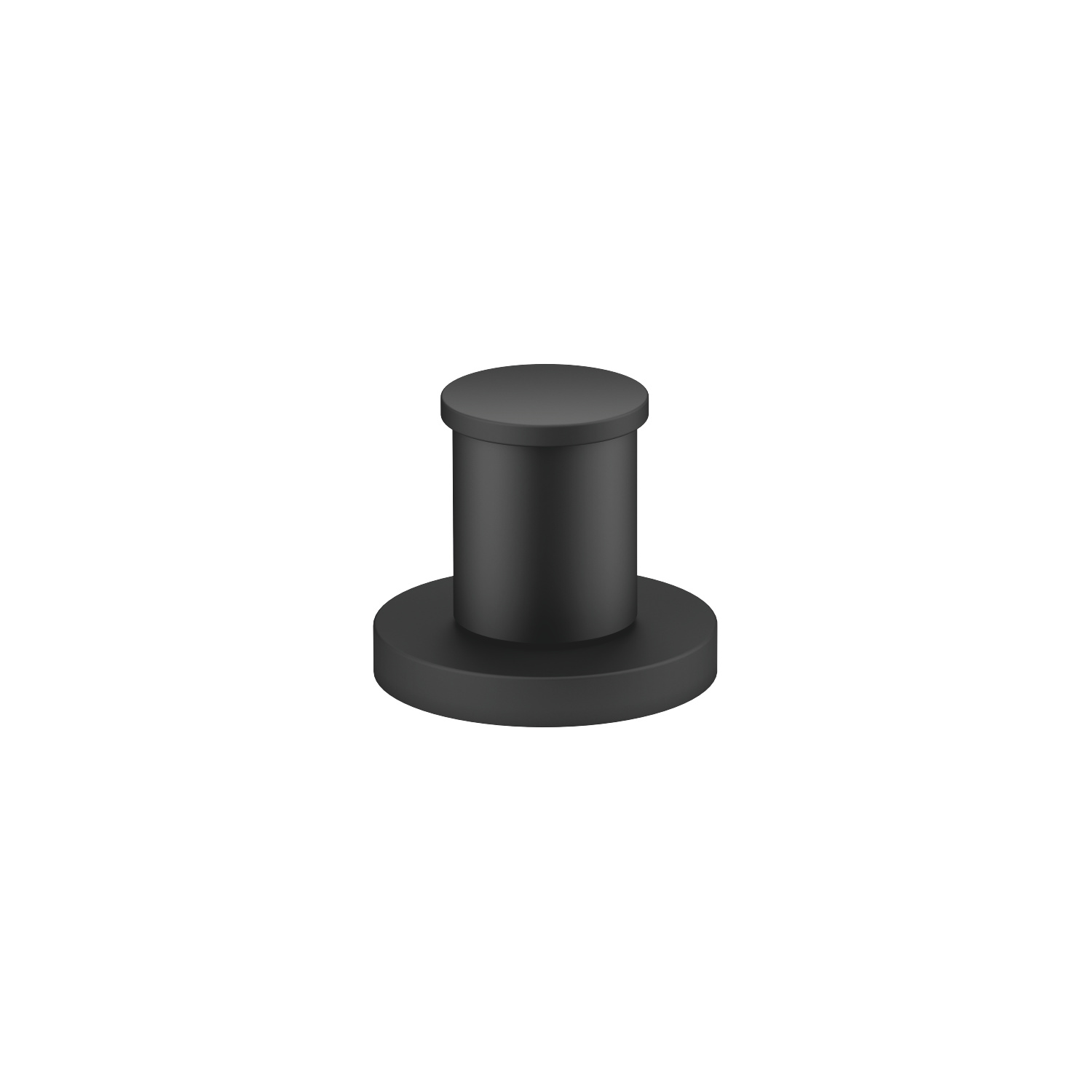 Two-way diverter for bath rim or tile edge installation - matt black - 29 140 660-33