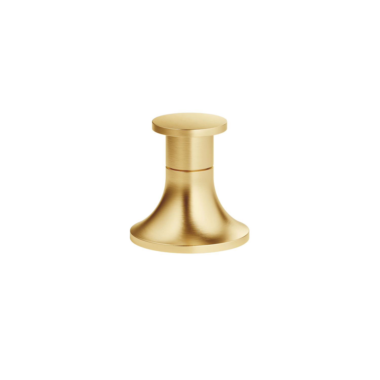 Two-way diverter for bath rim or tile edge installation - brushed Durabrass