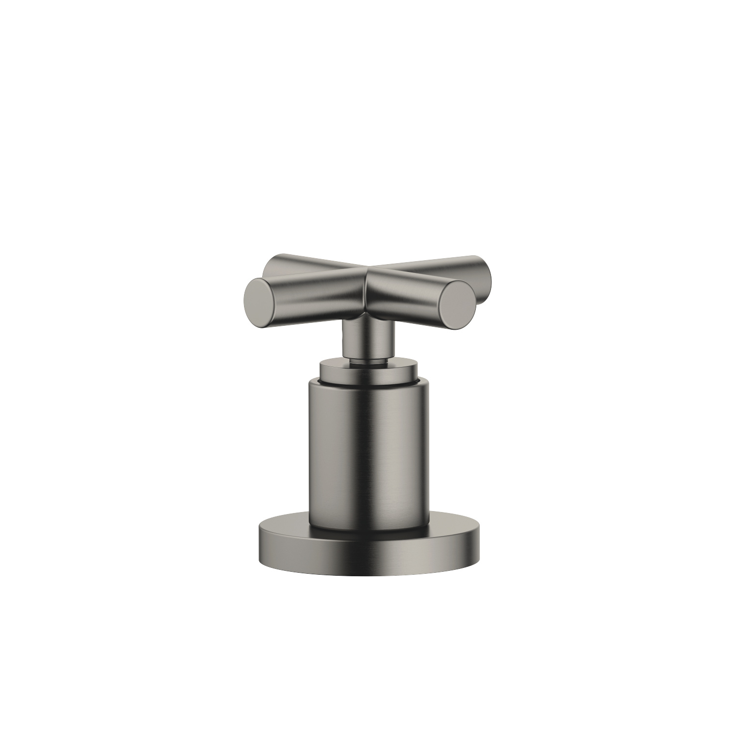 Two-way diverter for bath rim or tile edge installation - Dark Platinum matt