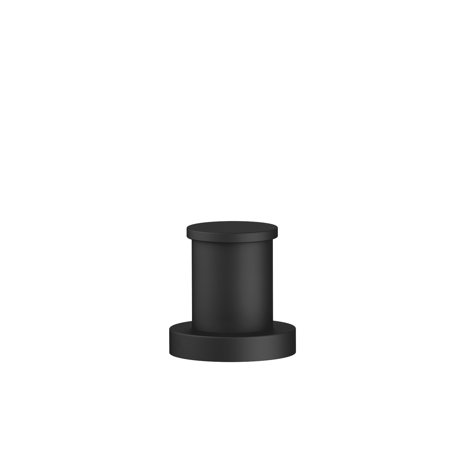 Two-way diverter for bath rim or tile edge installation - matt black