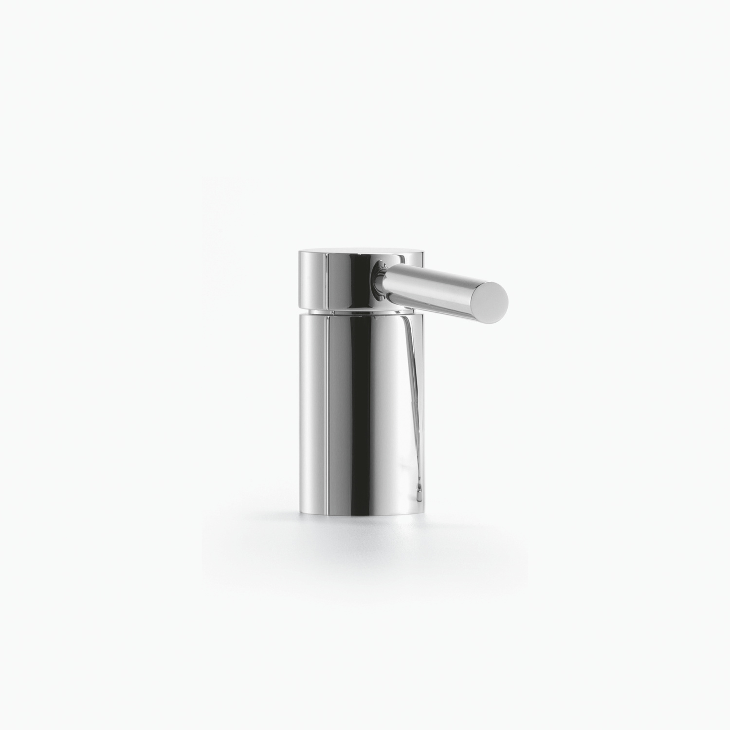 Single-lever bath mixer for bath rim or tile edge installation - platinum matt