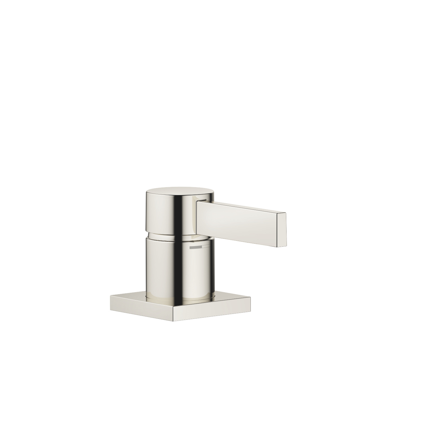Single-lever basin mixer - platinum