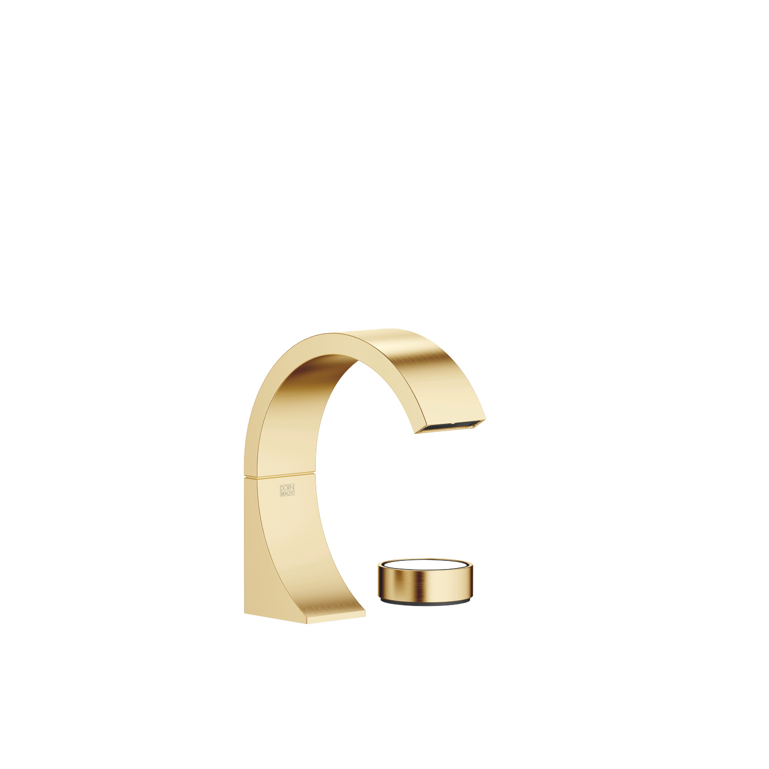 two-hole basin mixer without pop-up waste - brushed Durabrass