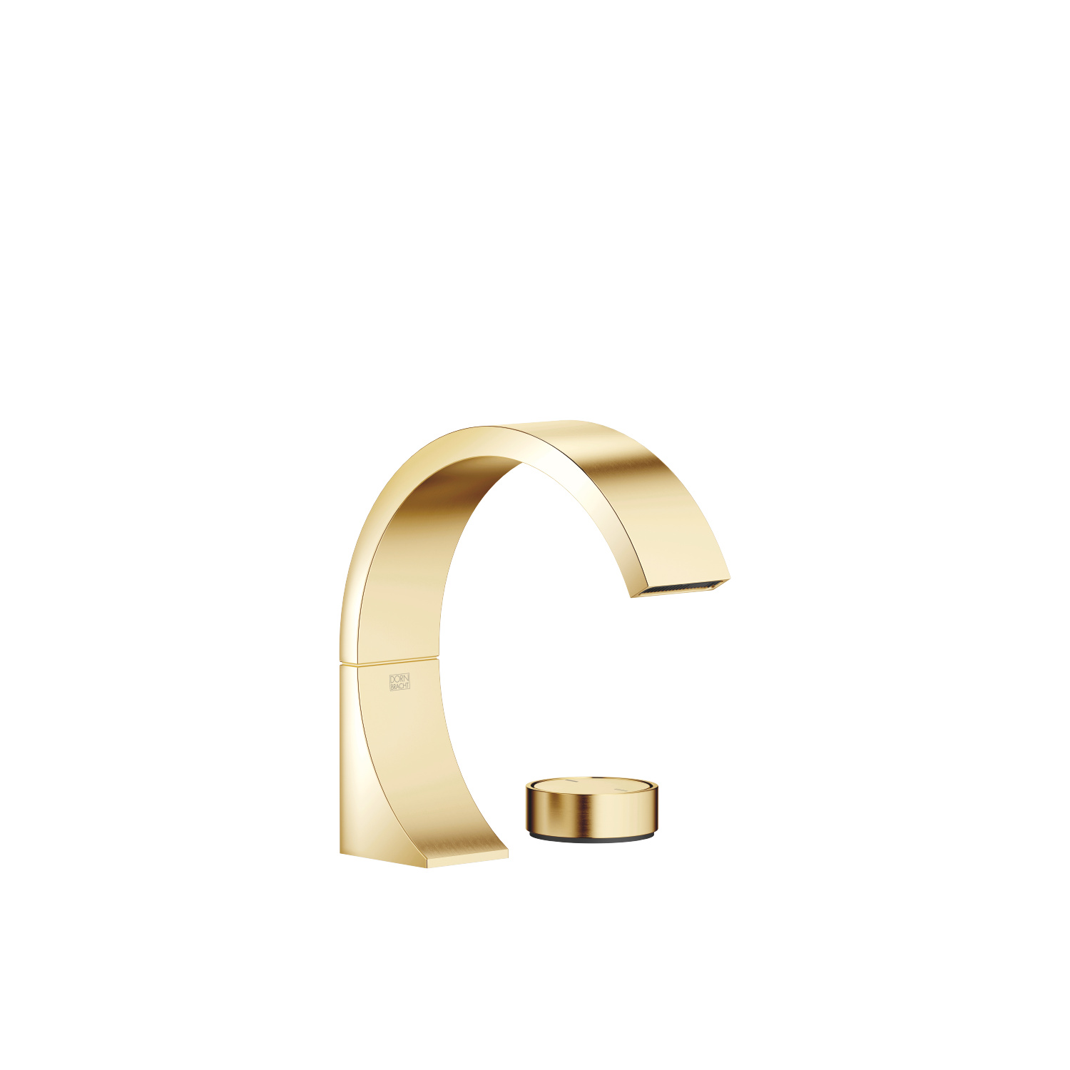 two-hole basin mixer without pop-up waste - Durabrass / brushed Durabrass