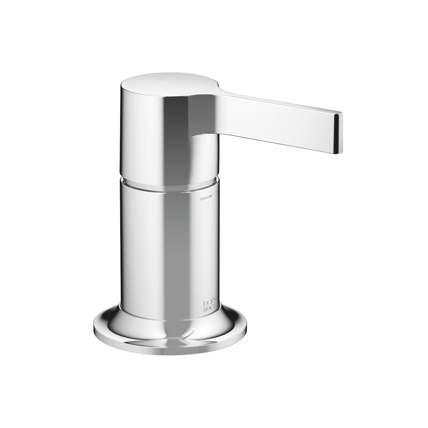 Single-lever tub mixer for deck-mounted tub installation - platinum matte