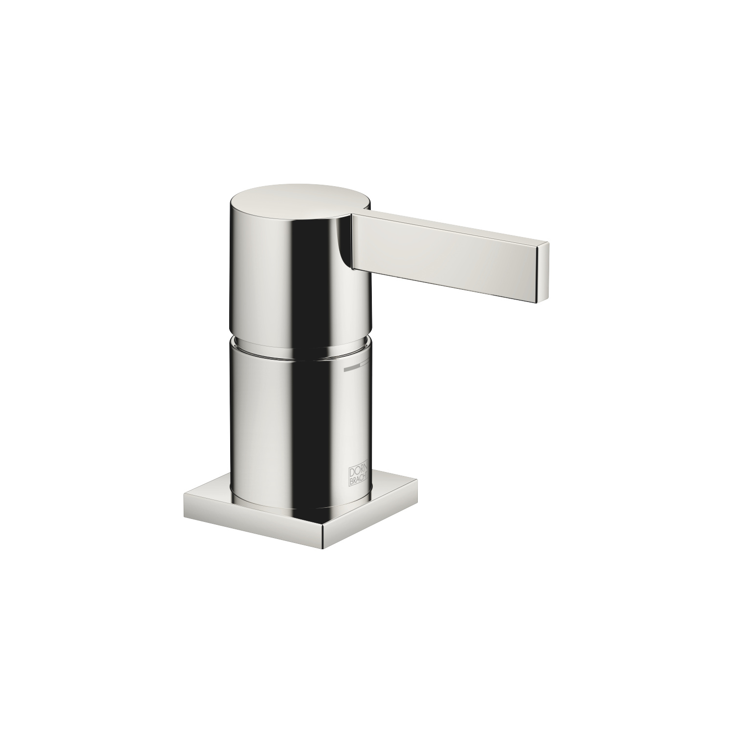 Single-lever bath mixer for bath rim or tile edge installation - platinum