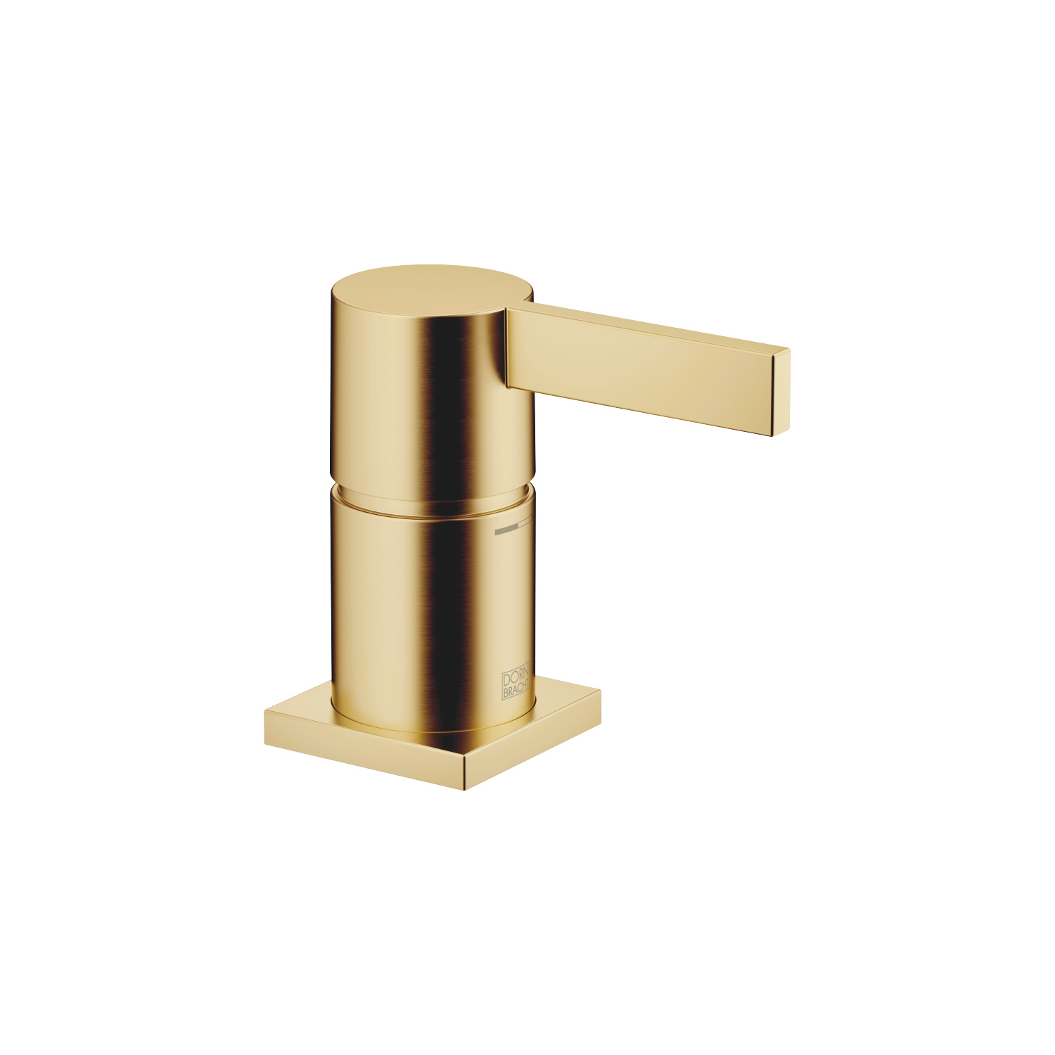 Single-lever bath mixer for bath rim or tile edge installation - brushed Durabrass