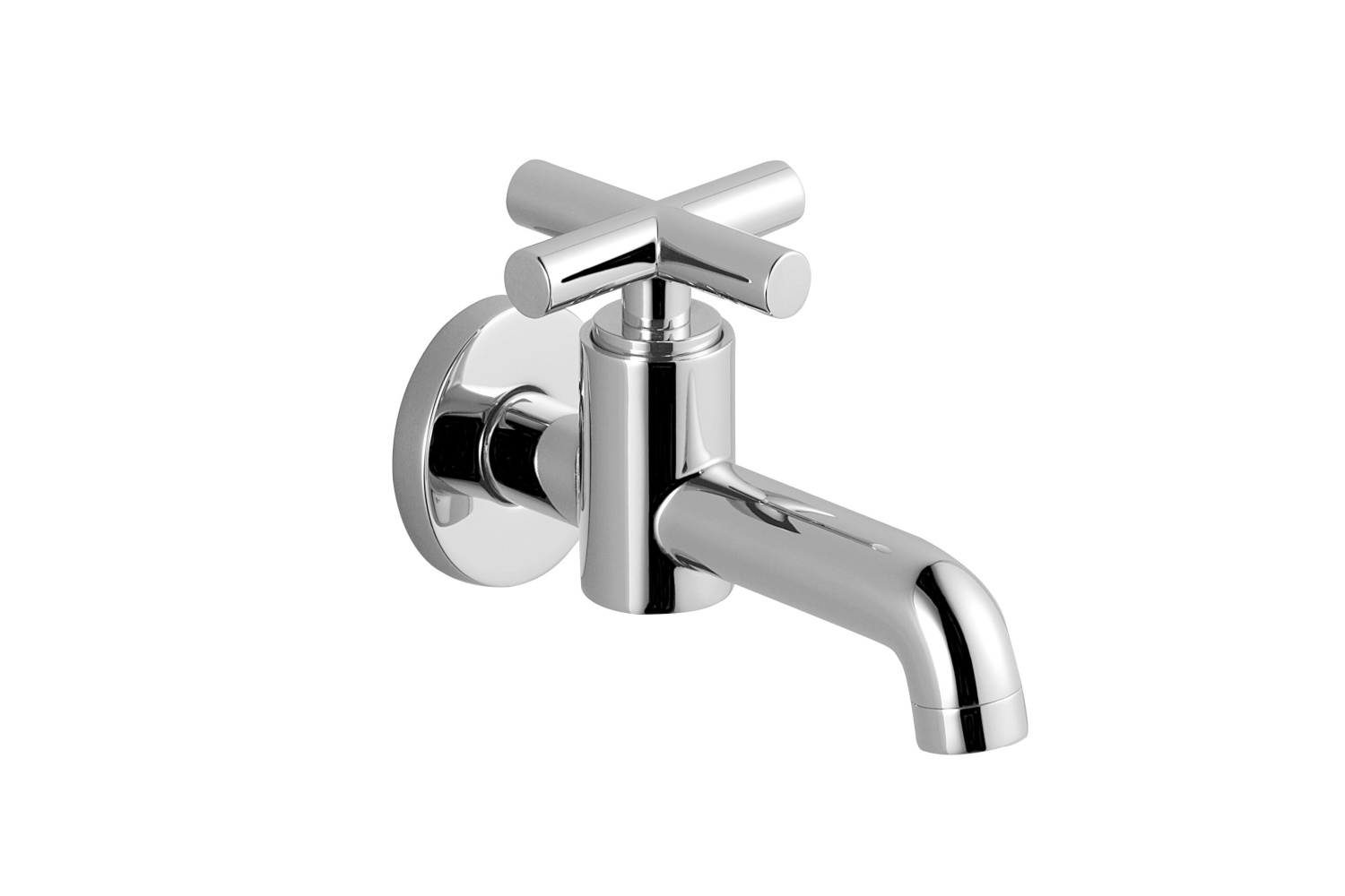 Wall-mounted valve cold water - Dark Platinum matt