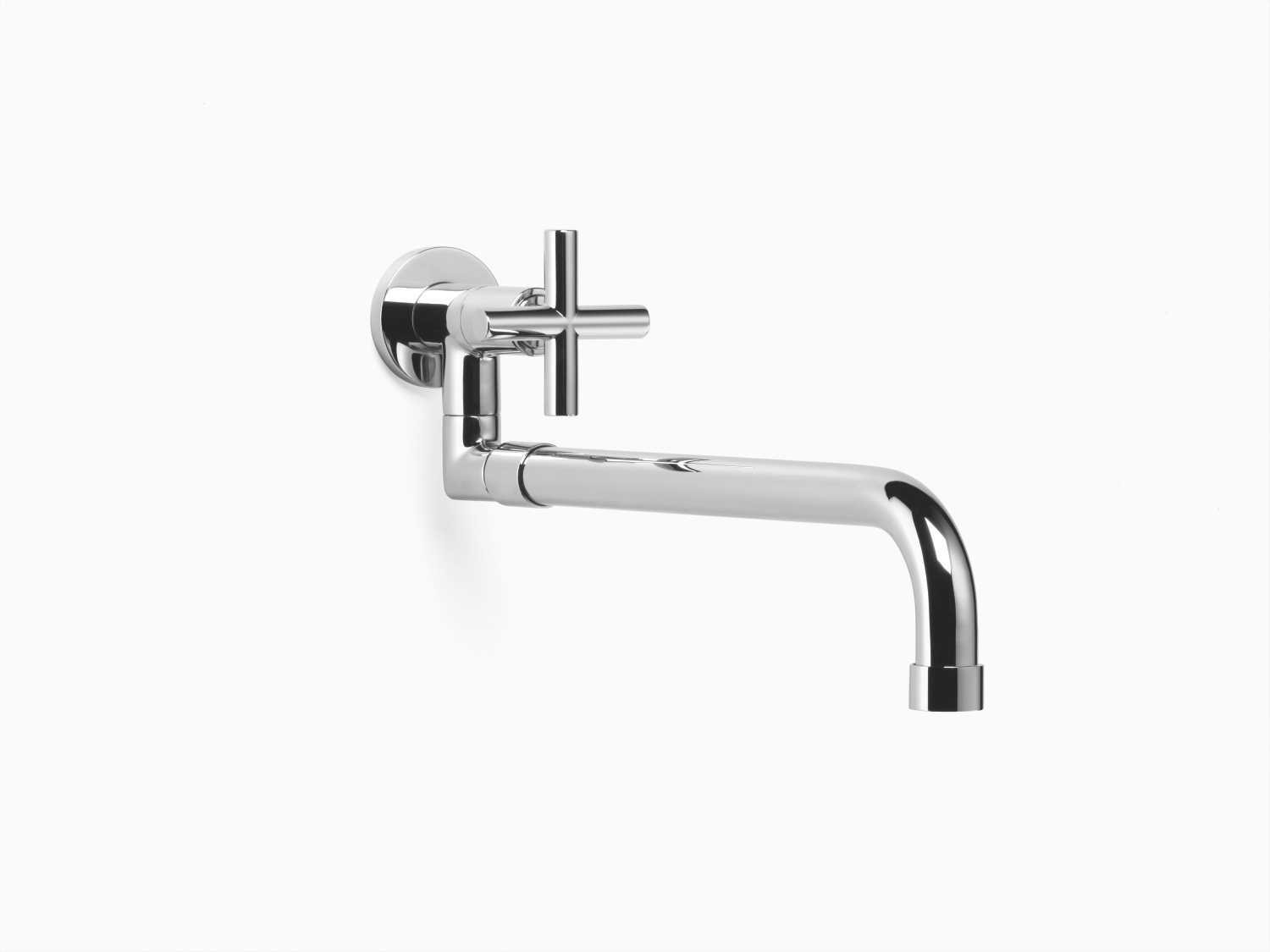 Tap with pivotable spout with extending spout - polished chrome