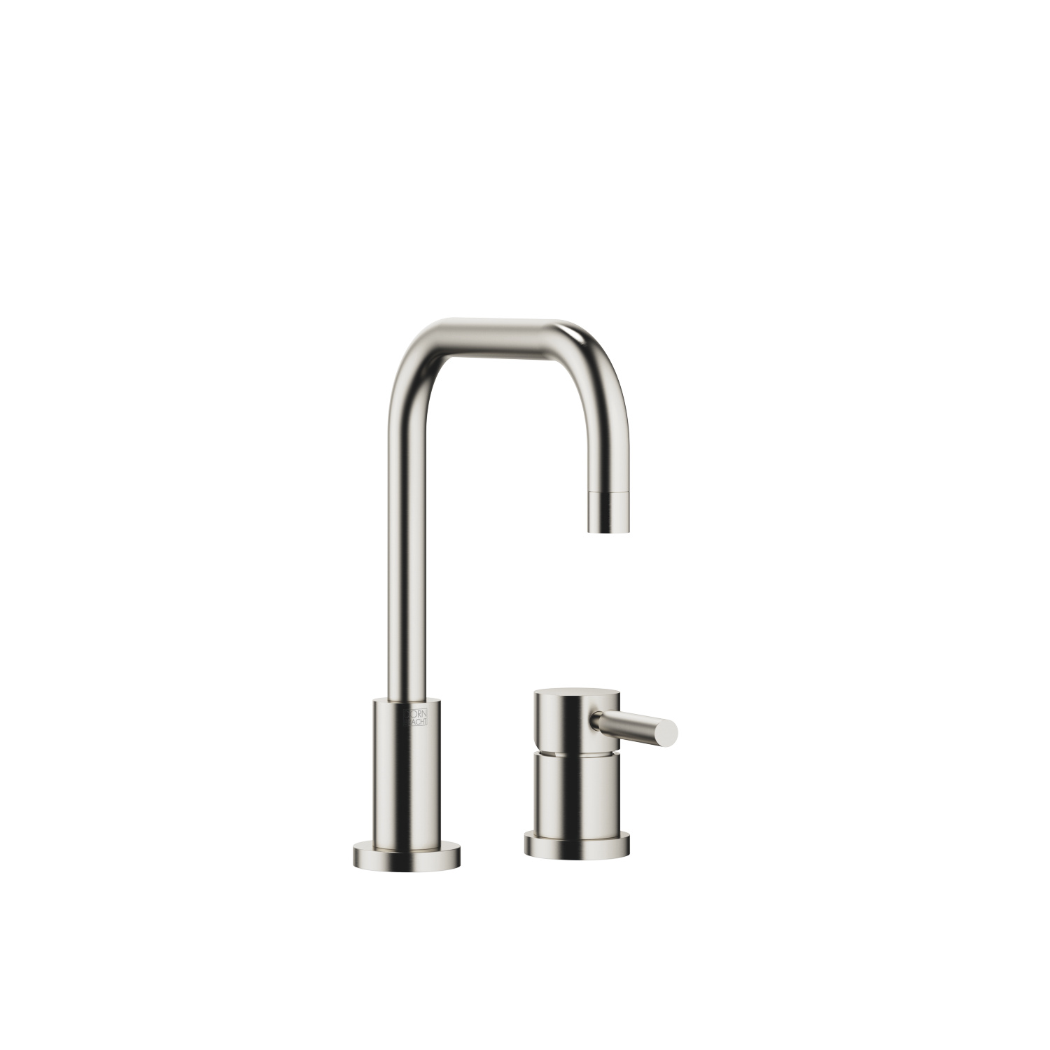 Two-hole mixer with individual rosettes - platinum matt