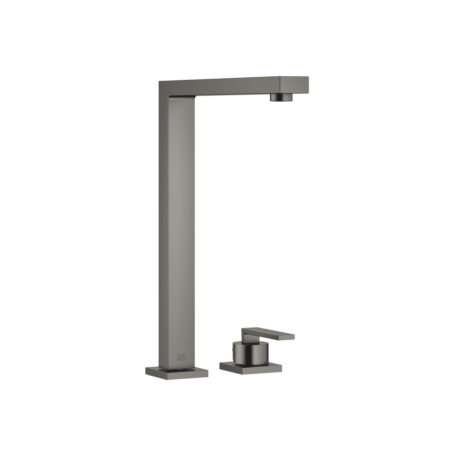 Two-hole mixer with individual flanges - Dark Platinum matte