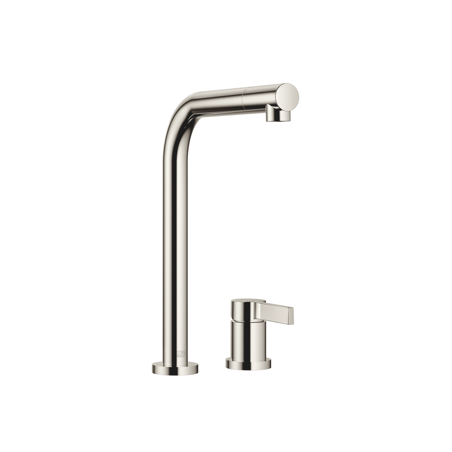 Two-hole mixer with individual rosettes - platinum