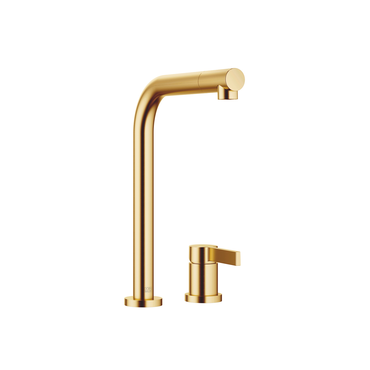 Two-hole mixer with individual rosettes - brushed Durabrass