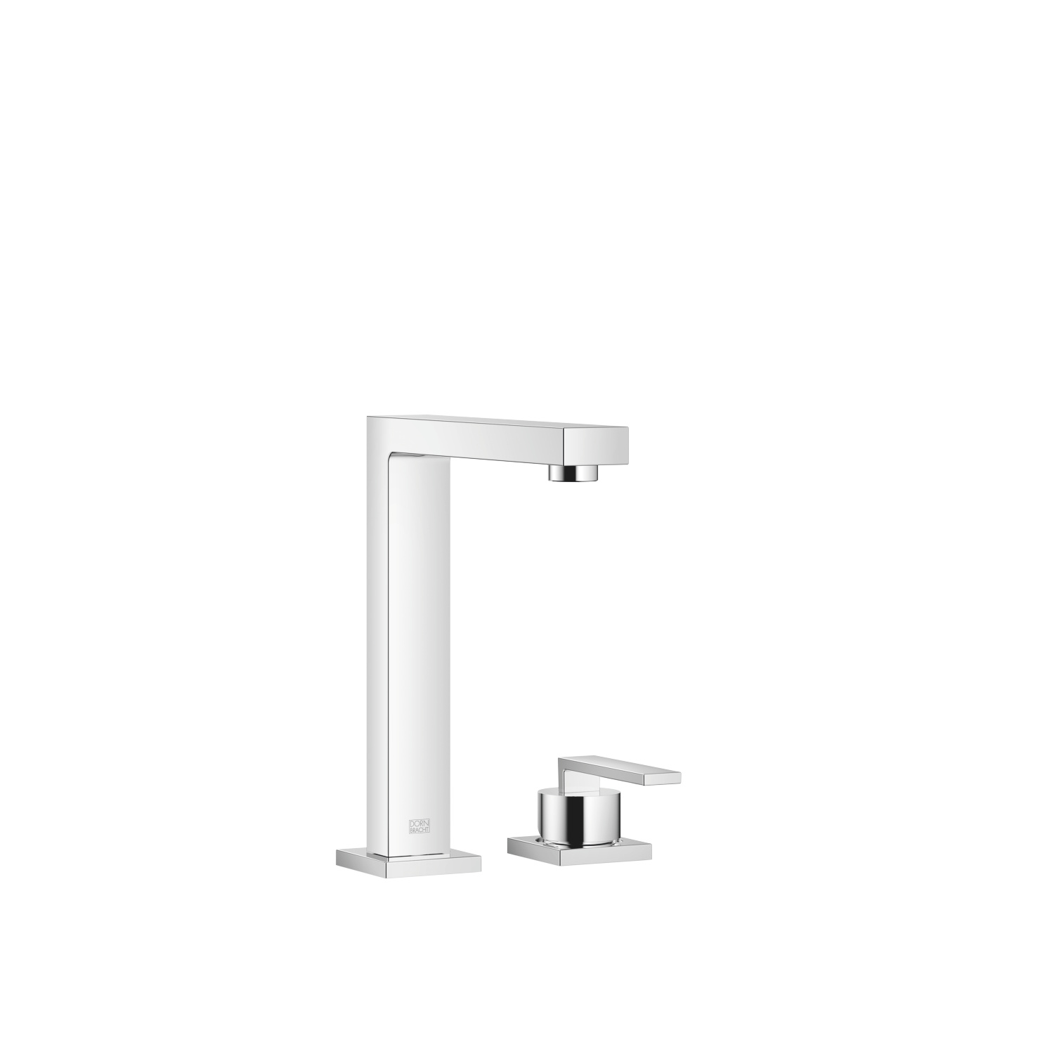 BAR TAP Two-hole mixer with individual rosettes - polished chrome