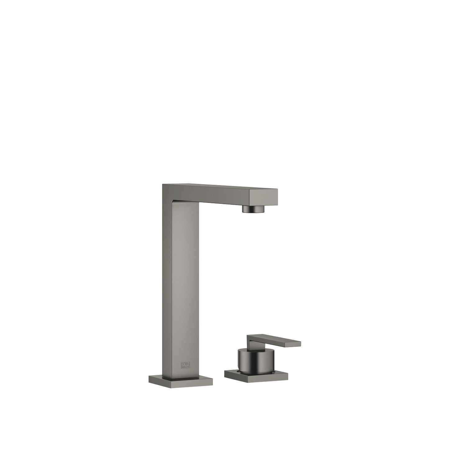 BAR TAP Two-hole mixer with individual rosettes - Dark Platinum matt