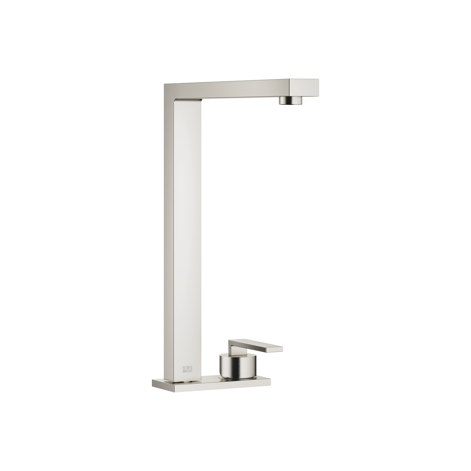 Two-hole mixer with cover plate - platinum matt