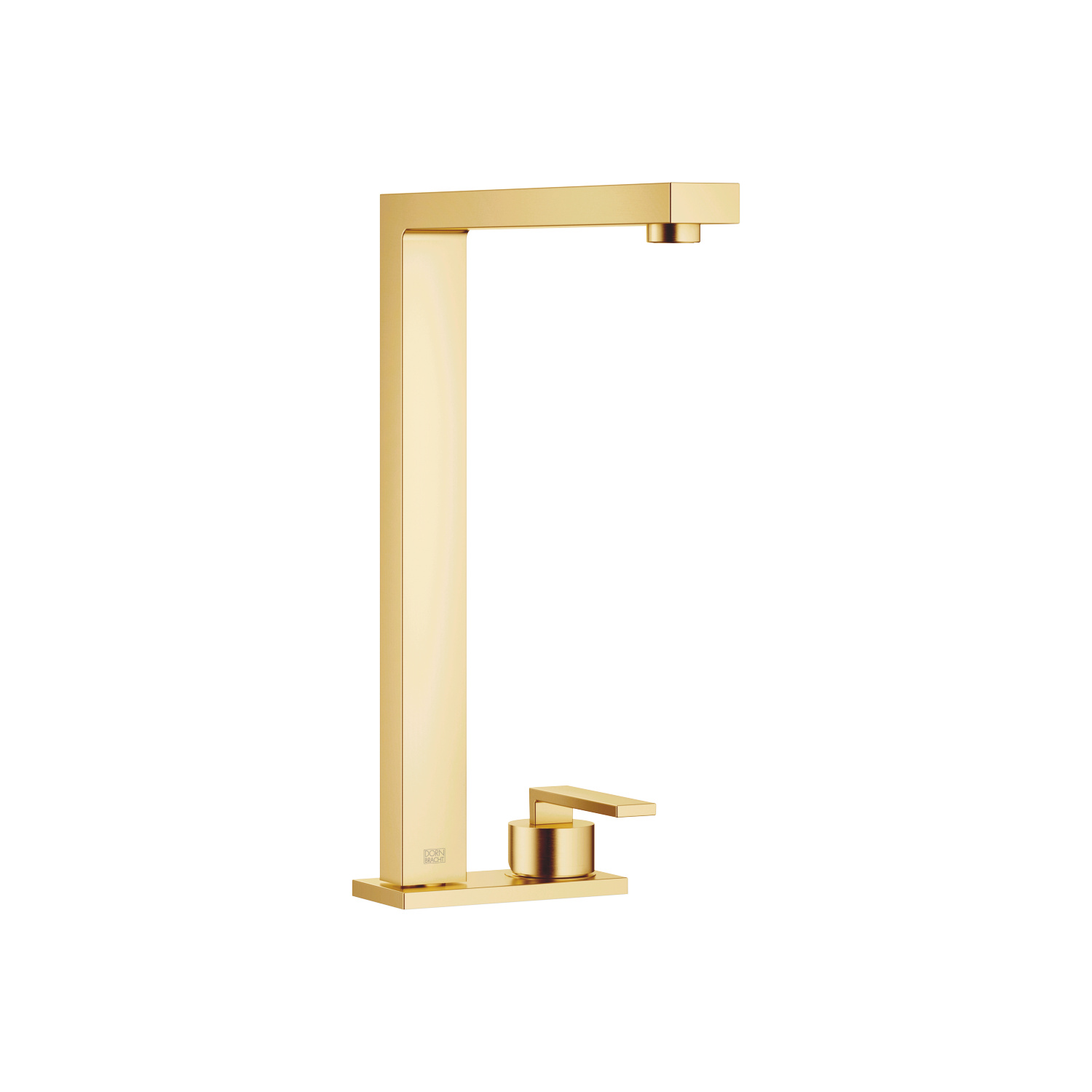 Two-hole mixer with cover plate - Brushed Durabrass