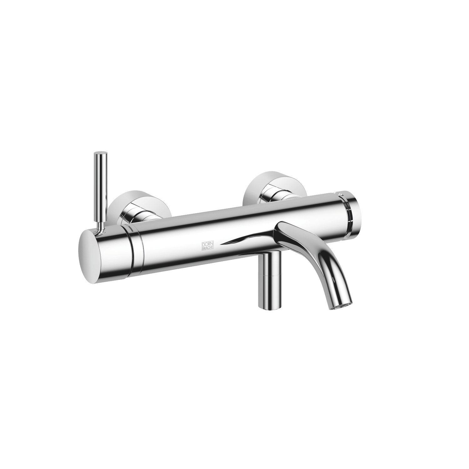 Single-lever bath mixer for wall mounting without shower set - polished chrome
