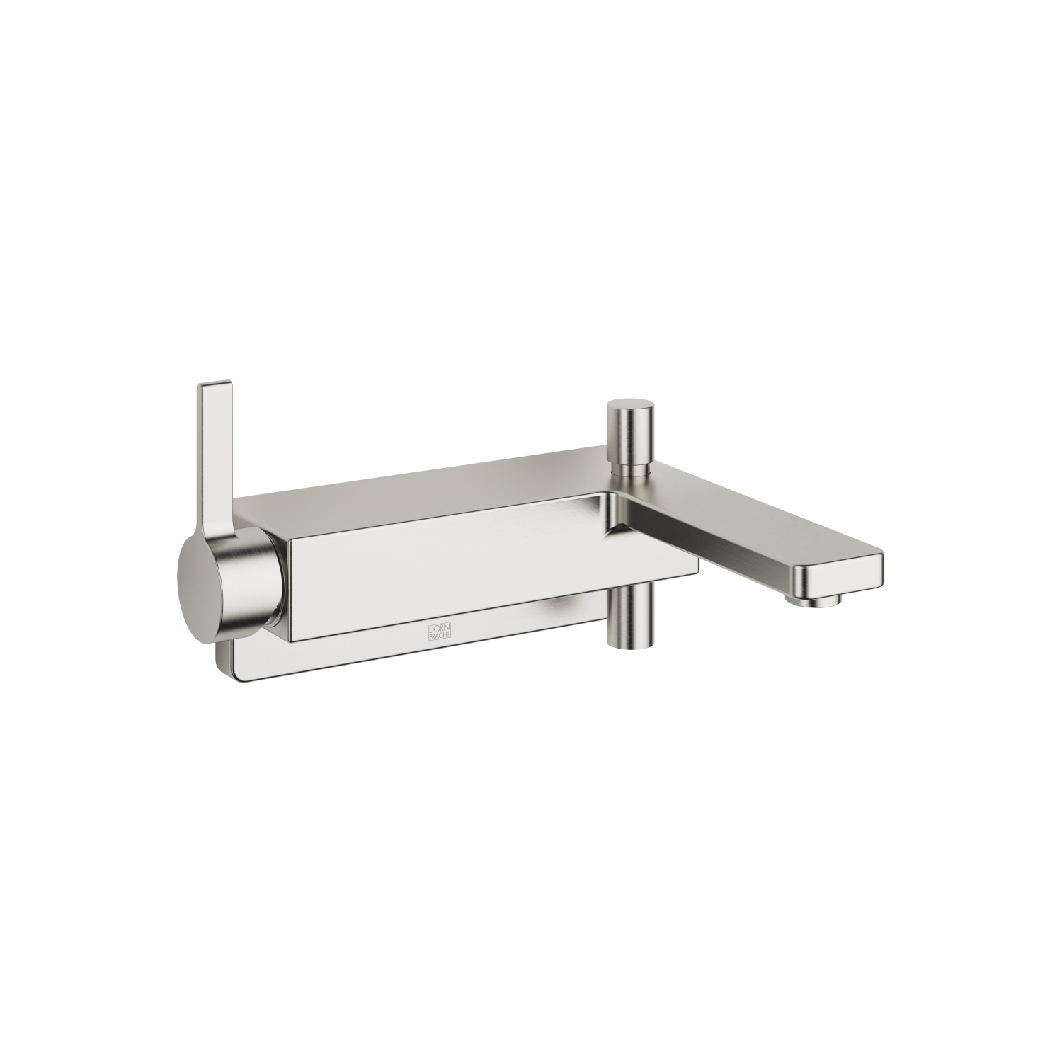 Single-lever bath mixer for wall mounting without shower set - platinum matt