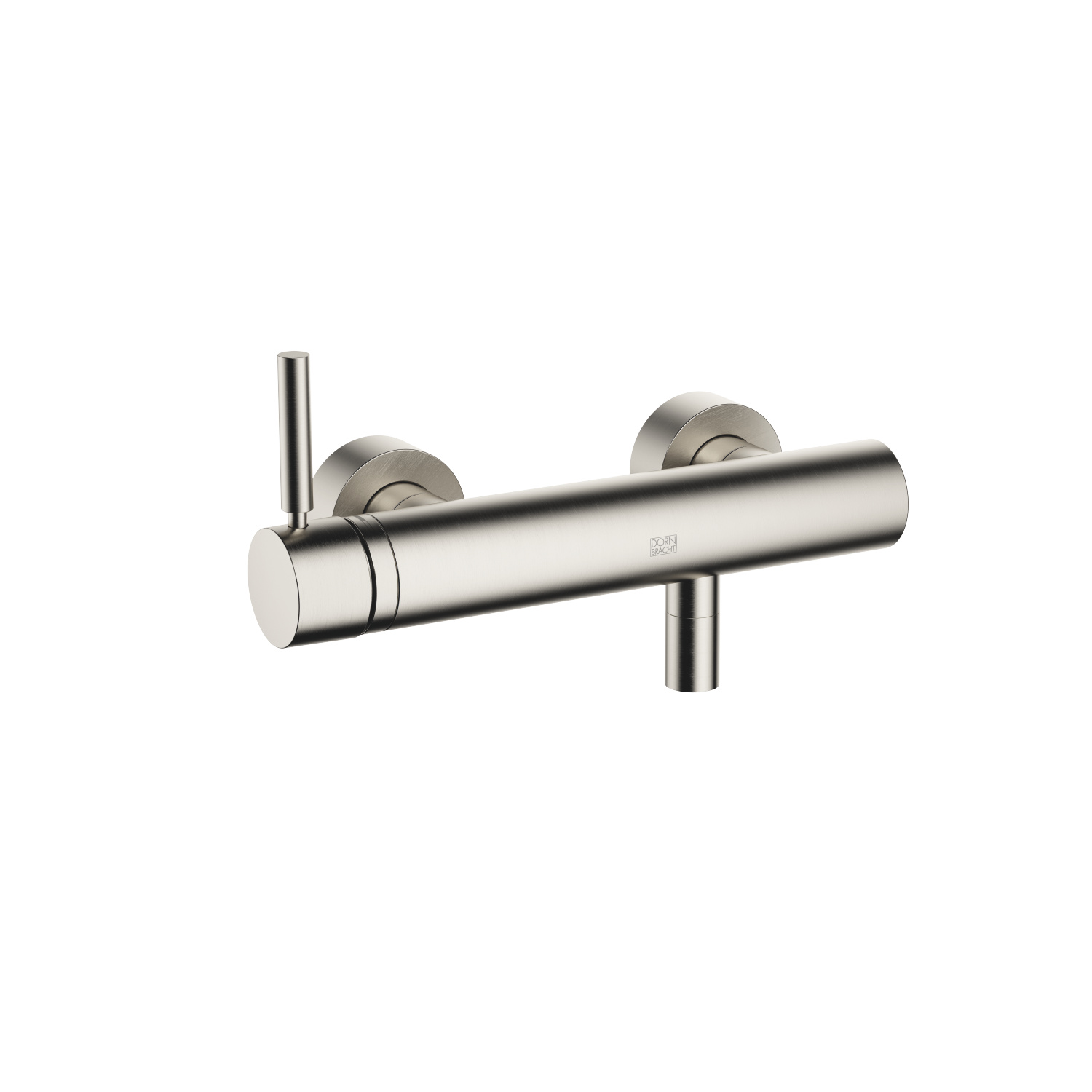Single-lever shower mixer for wall-mounted installation - platinum matte