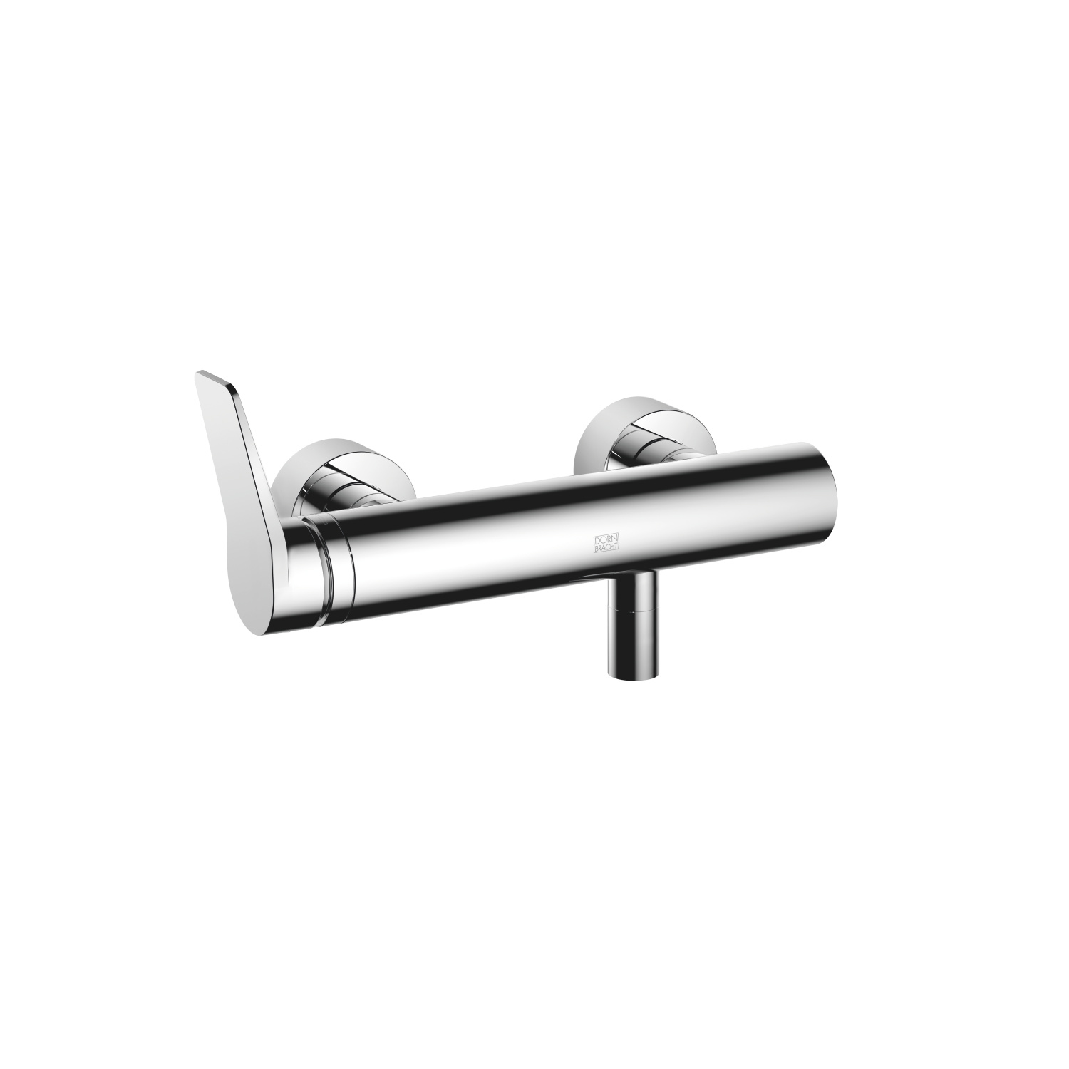 Single-lever shower mixer for wall mounting - polished chrome