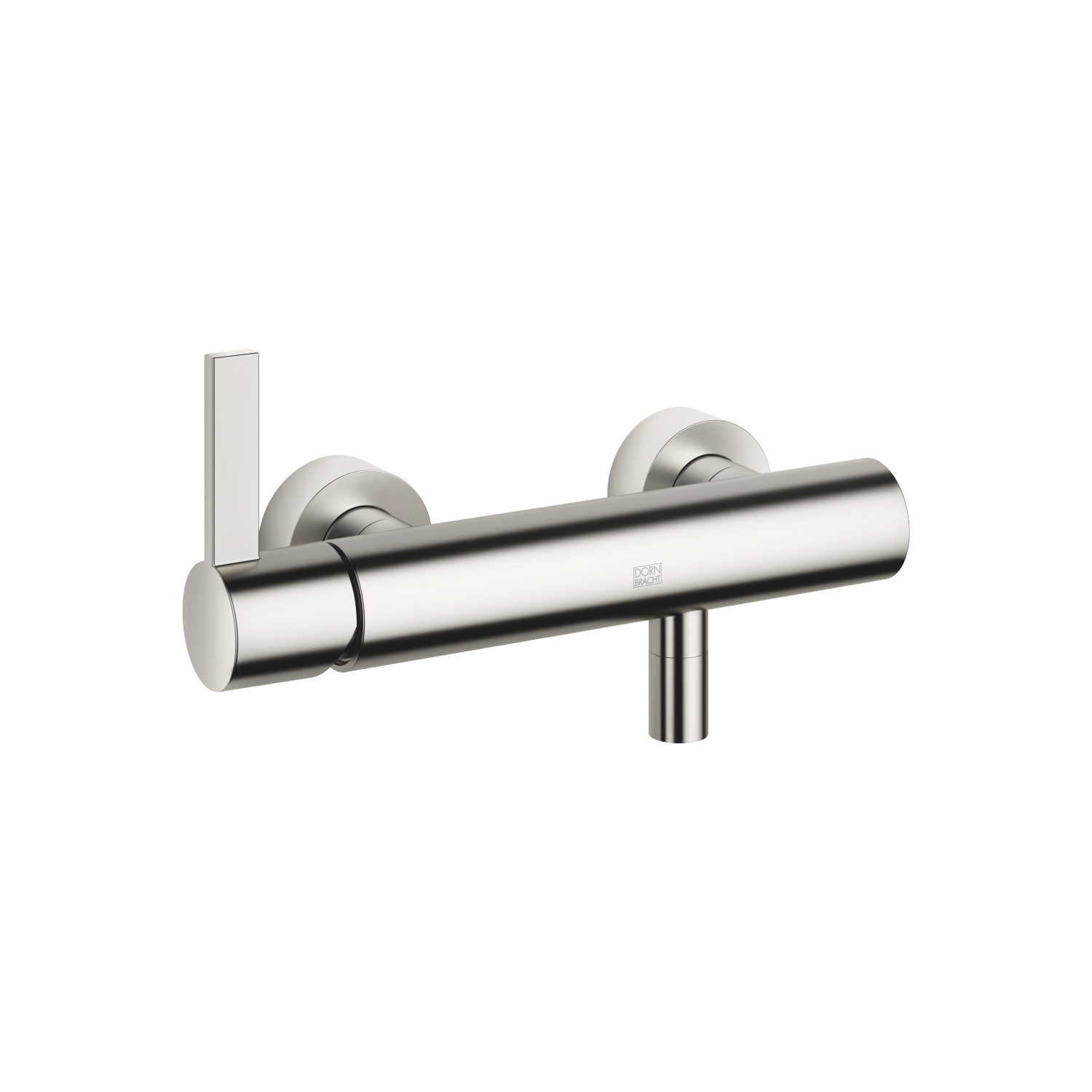 Single-lever shower mixer for wall mounting - platinum matt