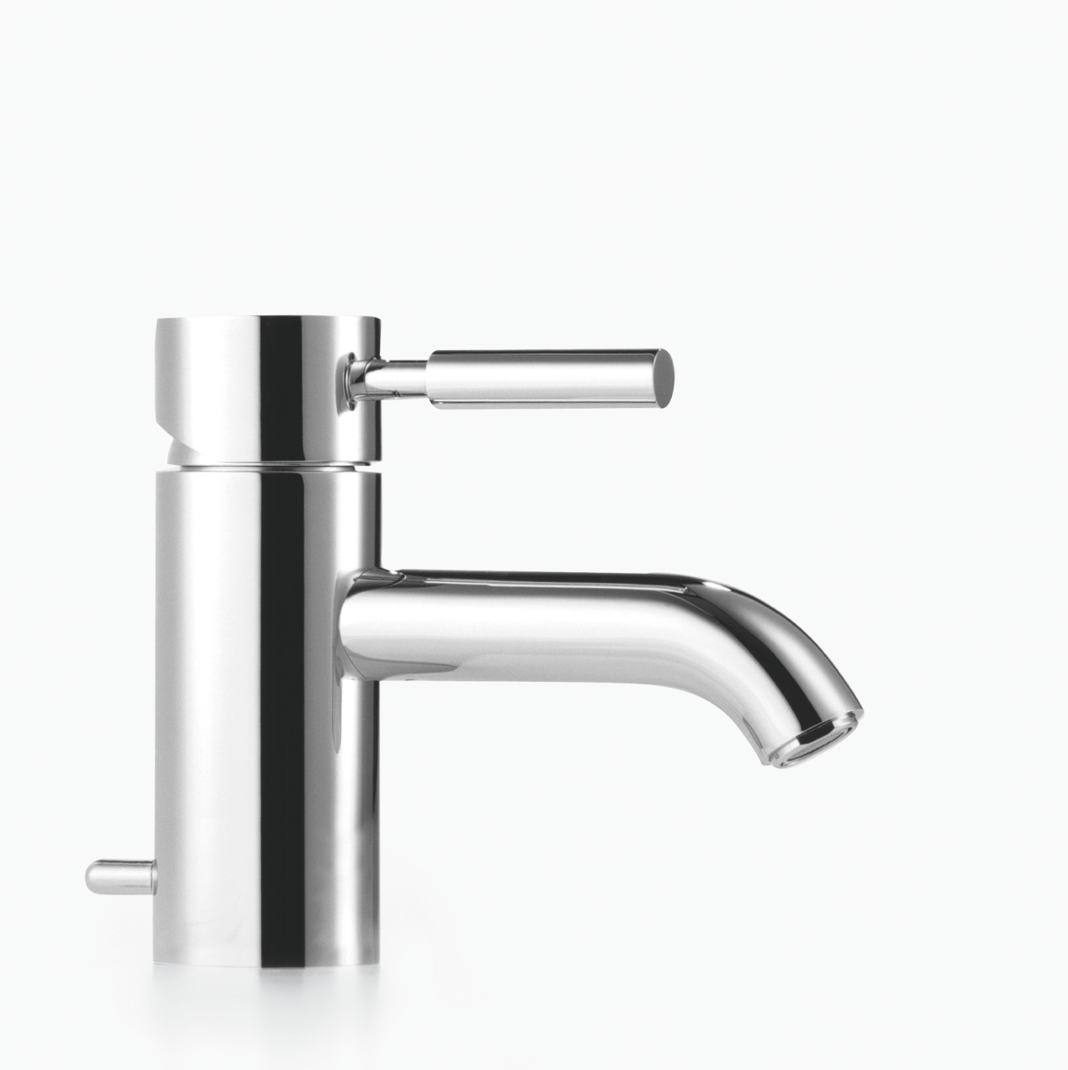 Single-lever basin mixer with pop-up waste - platinum matt - 33 500 625-06
