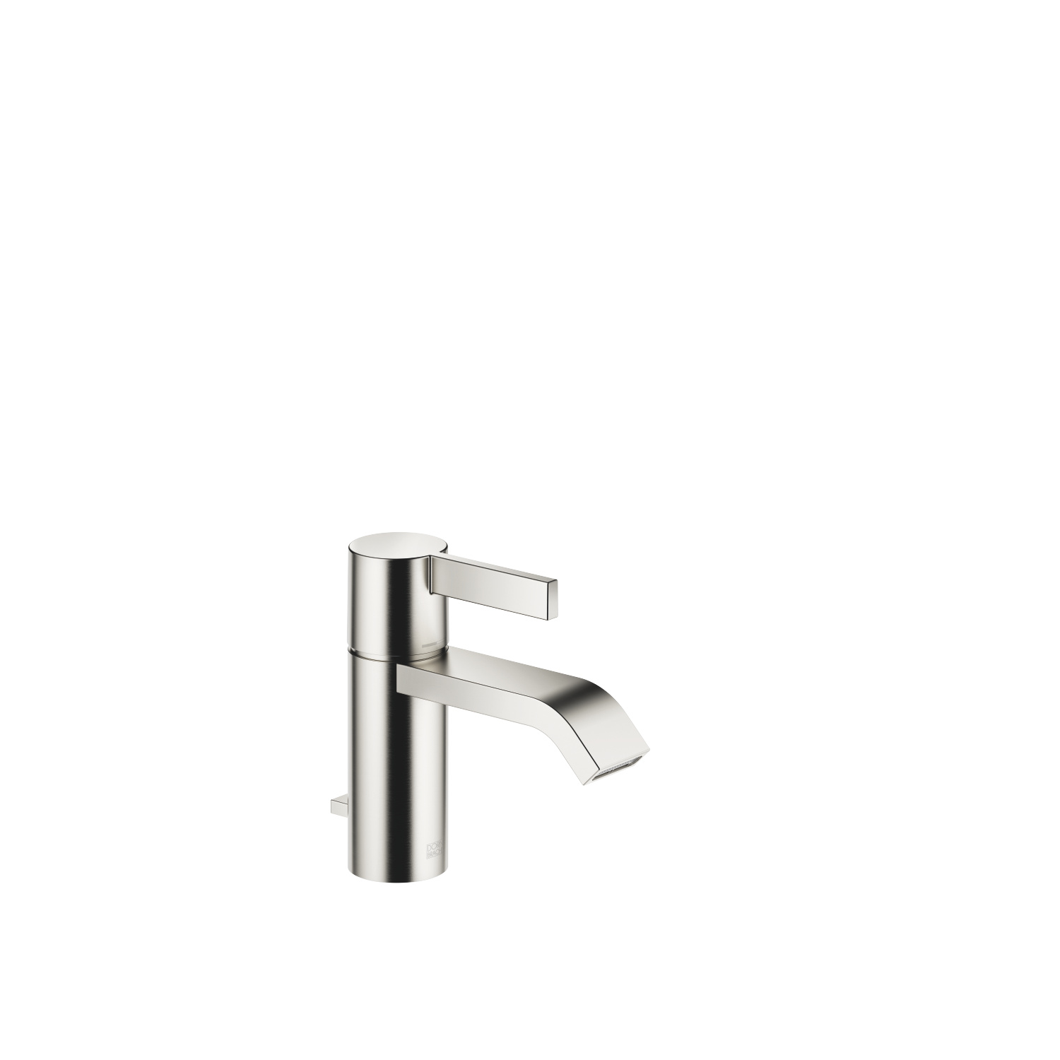Single-lever basin mixer with pop-up waste - platinum matt