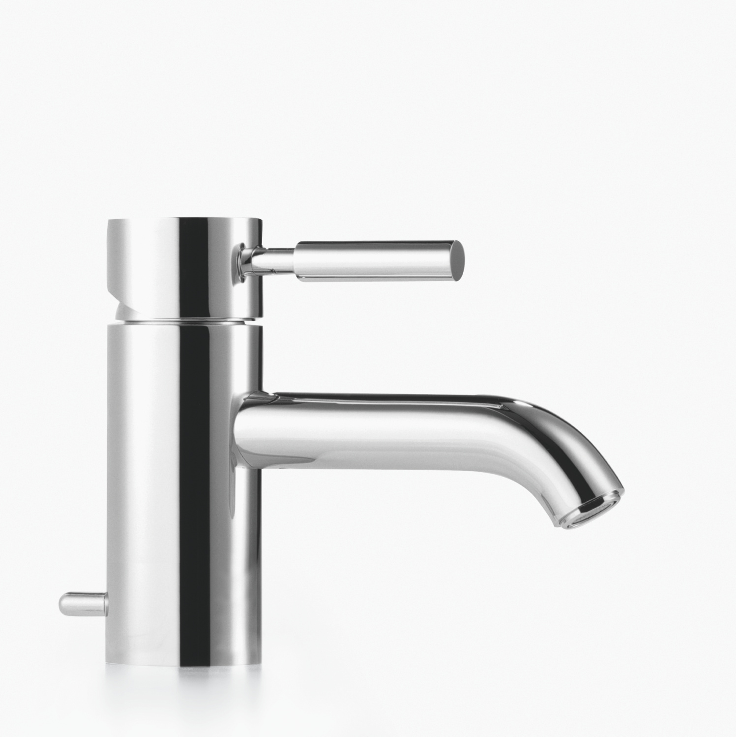 Single-lever basin mixer with pop-up waste - platinum matt - 33 501 625-06