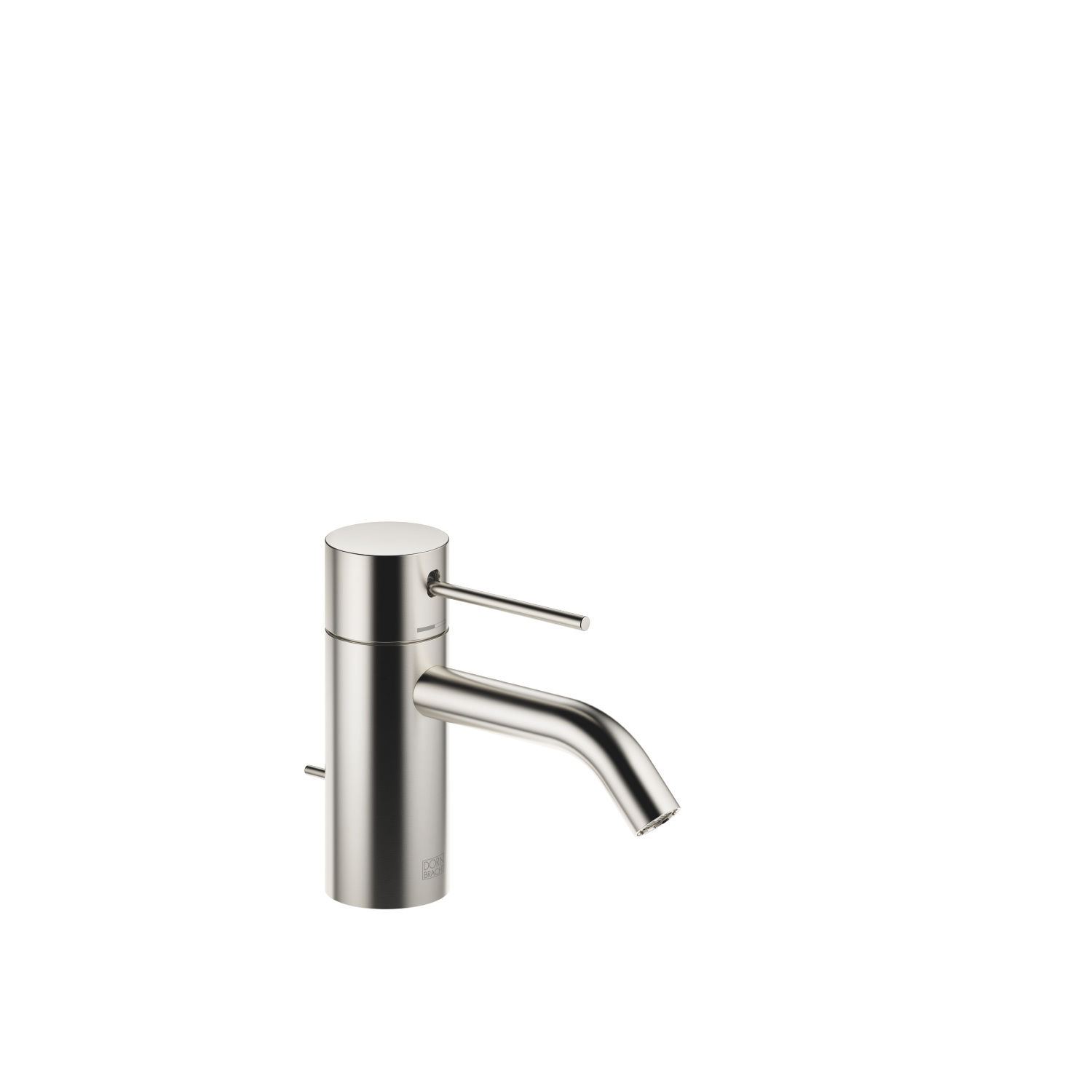 META SLIM Single-lever basin mixer with pop-up waste - platinum matt