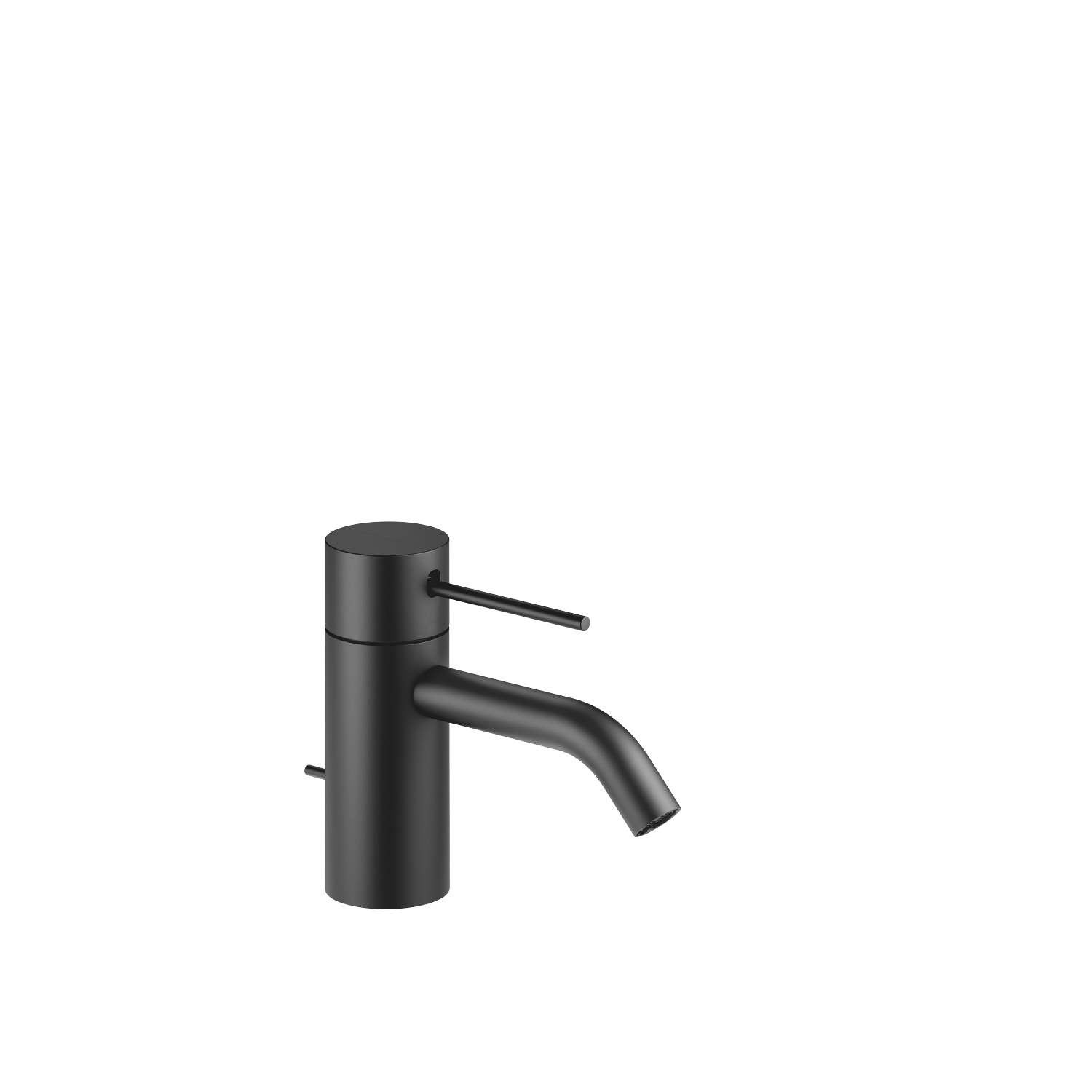 META SLIM Single-lever basin mixer with pop-up waste - matt black
