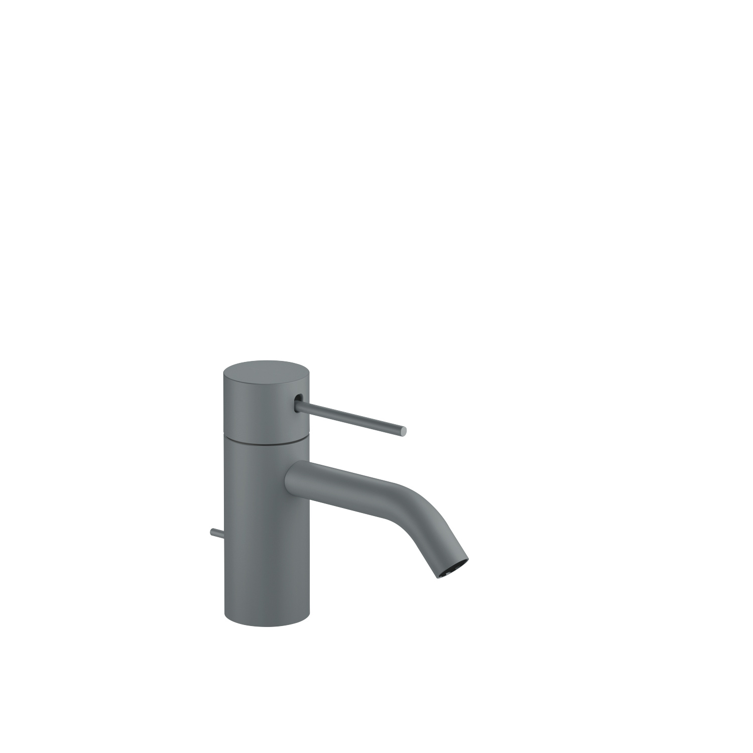 META SLIM Single-lever basin mixer with pop-up waste - light grey
