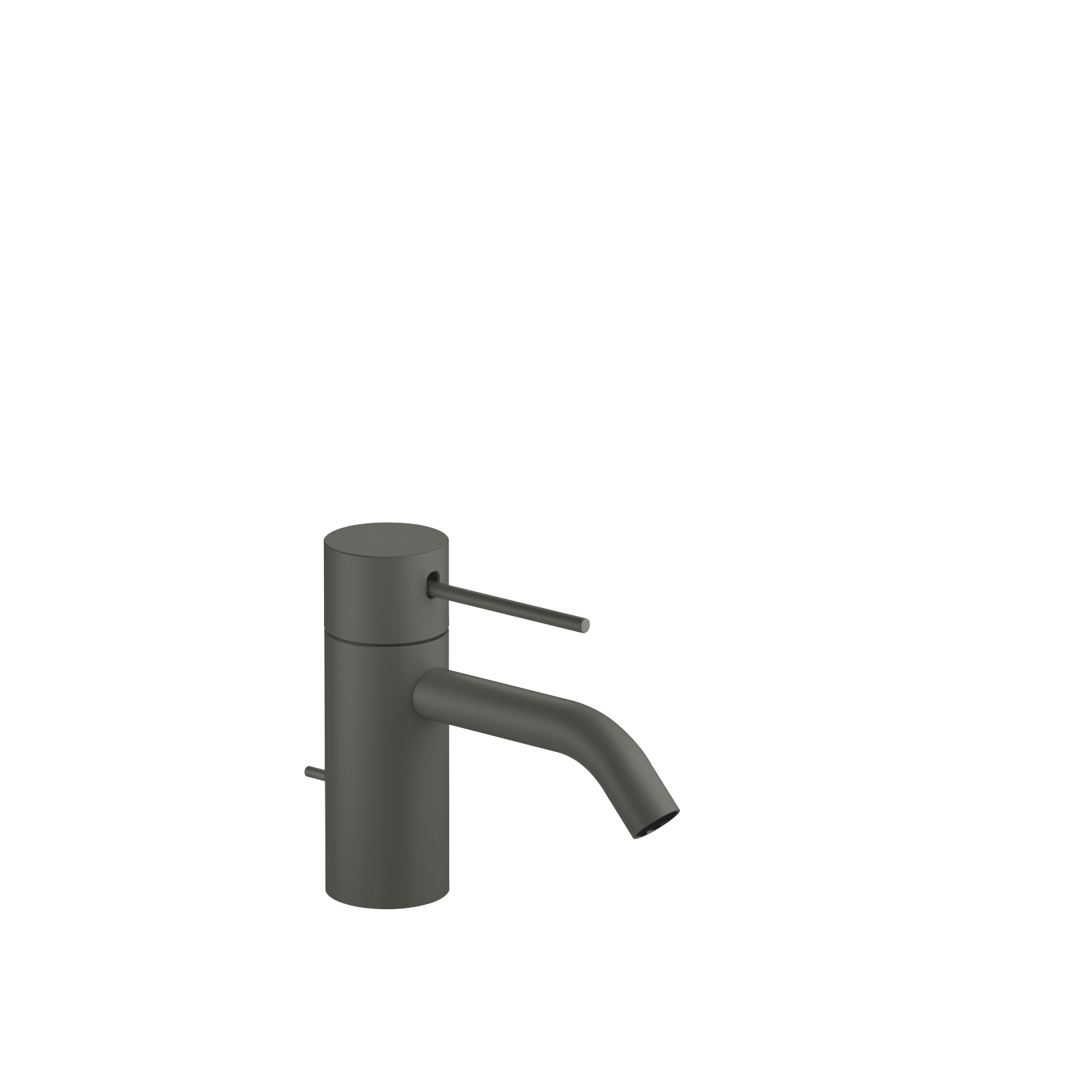 META SLIM Single-lever basin mixer with pop-up waste - dark grey