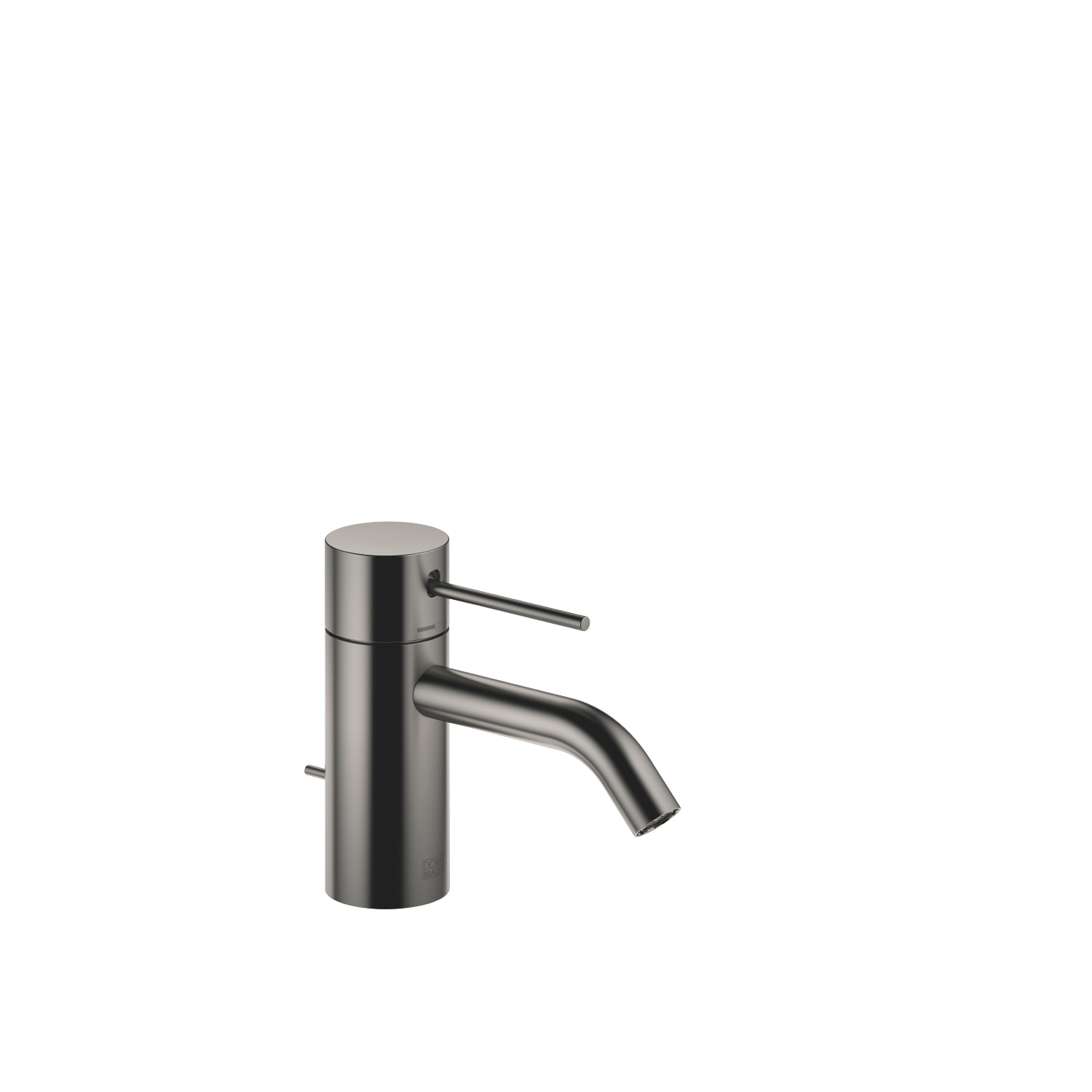 META SLIM Single-lever basin mixer with pop-up waste - Dark Platinum matt