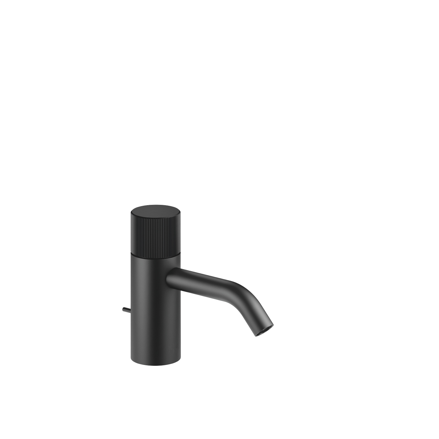 META PURE Single-lever basin mixer with pop-up waste - matt black