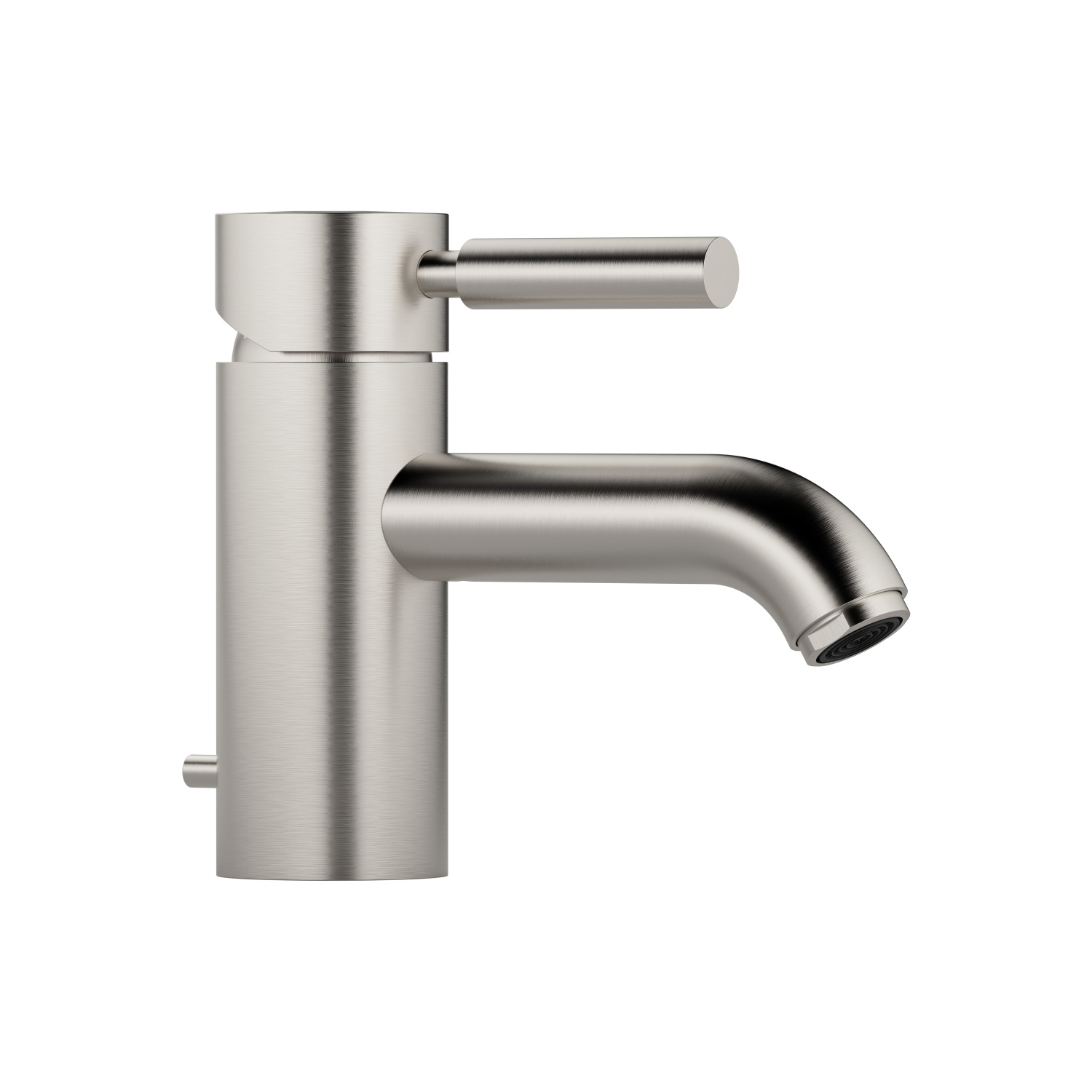 GRANDE Single-lever basin mixer with pop-up waste - platinum matt